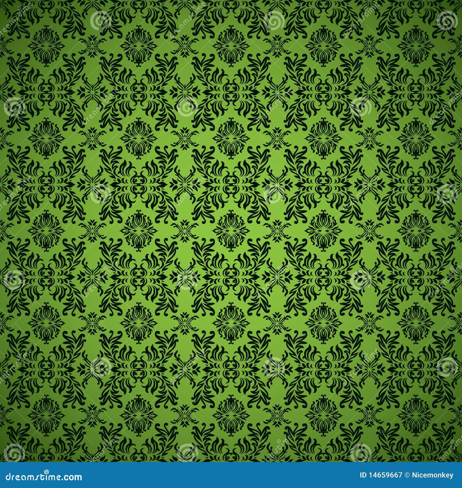 Gothic Seamless Green Wallpaper Stock Vector Illustration Of Green