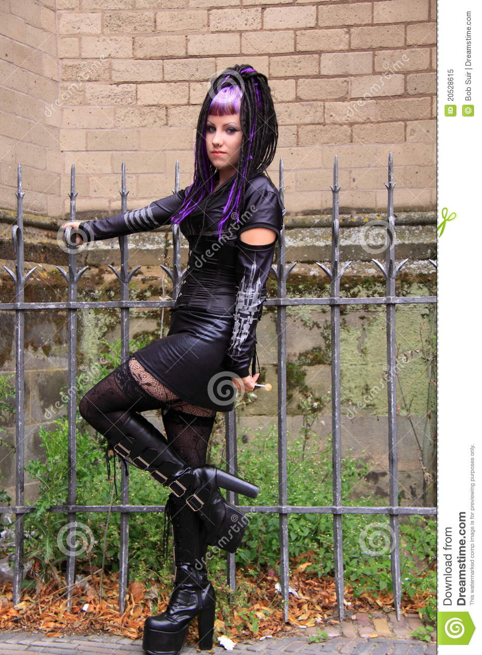 Gothic Street Style Fashion Editorial Image Image Of