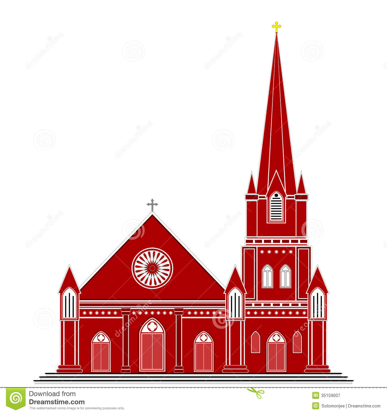 Gothic Style Church Royalty Free Stock Photography - Image ...