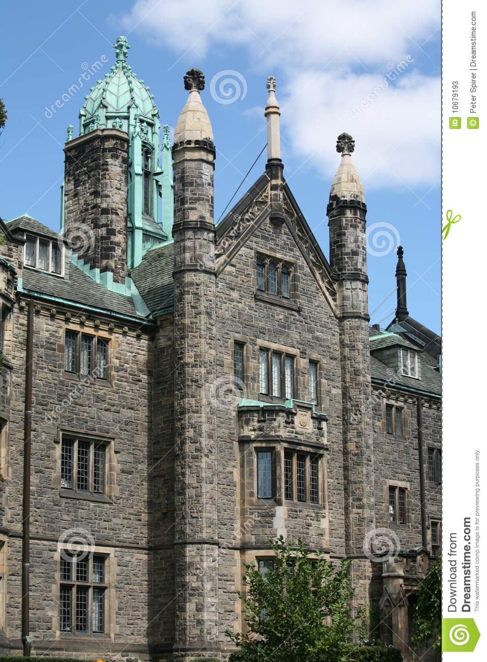Gothic Style College Building Stock Image Image Of
