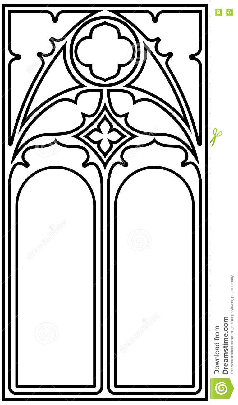 Gothic style frame stock vector. Illustration of grid - 81363065