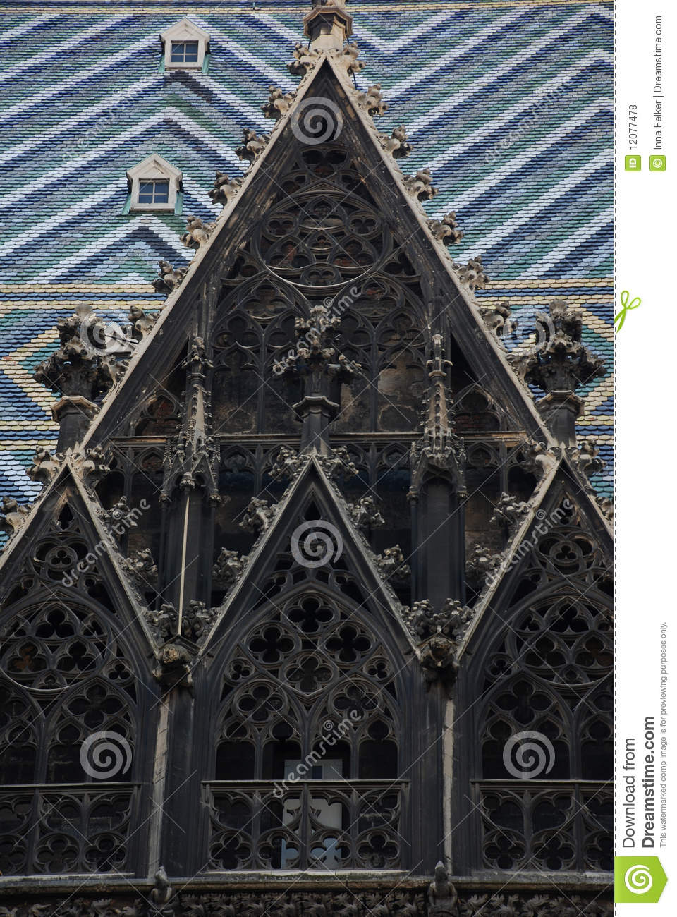 Gothic Tile Roof And Window Stock Photo Image 12077478
