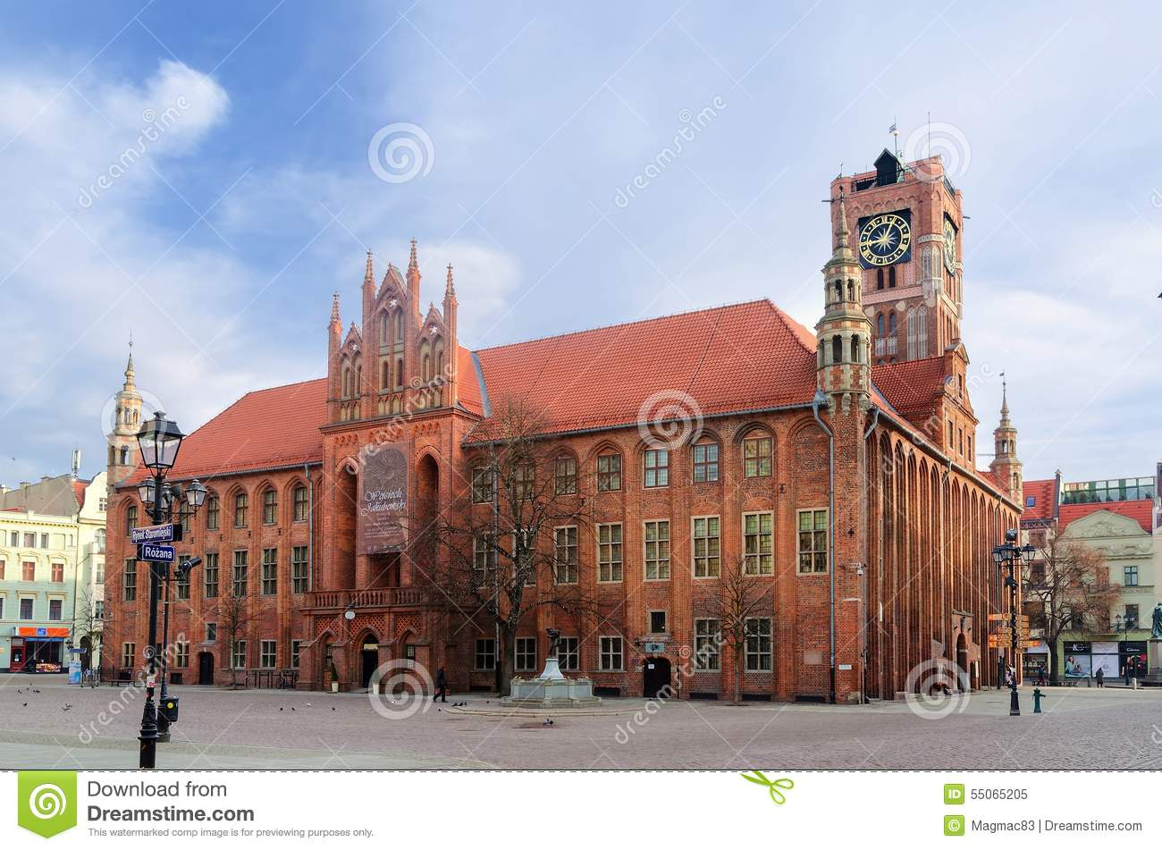 Gothic town hall. The Old Town in Torun, Poland