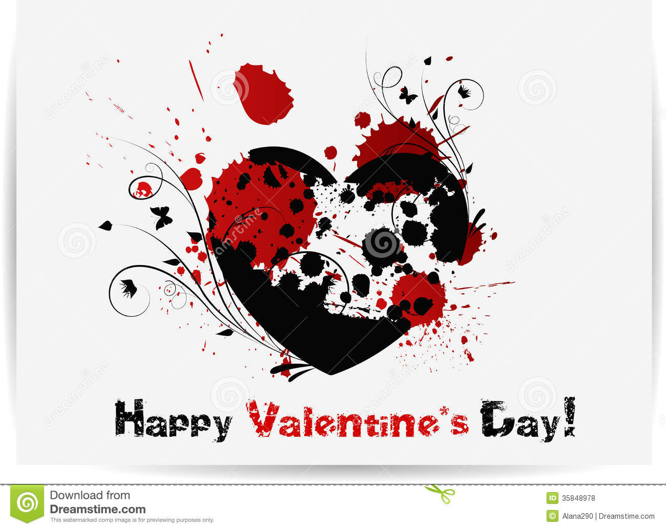 Gothic Valentines Day Card Royalty Free Stock Photos ...
