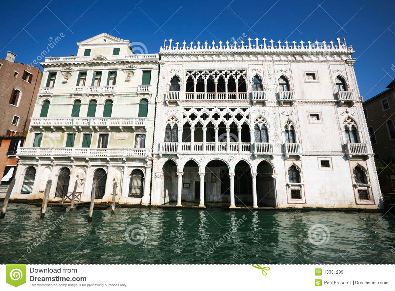 gothic venetian architecture royalty free stock images