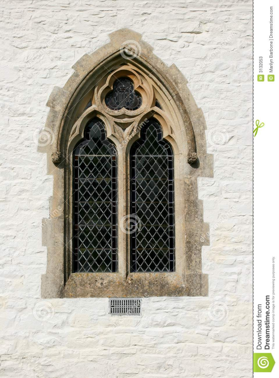 Gothic Window stock image. Image of lead, crafted, lime