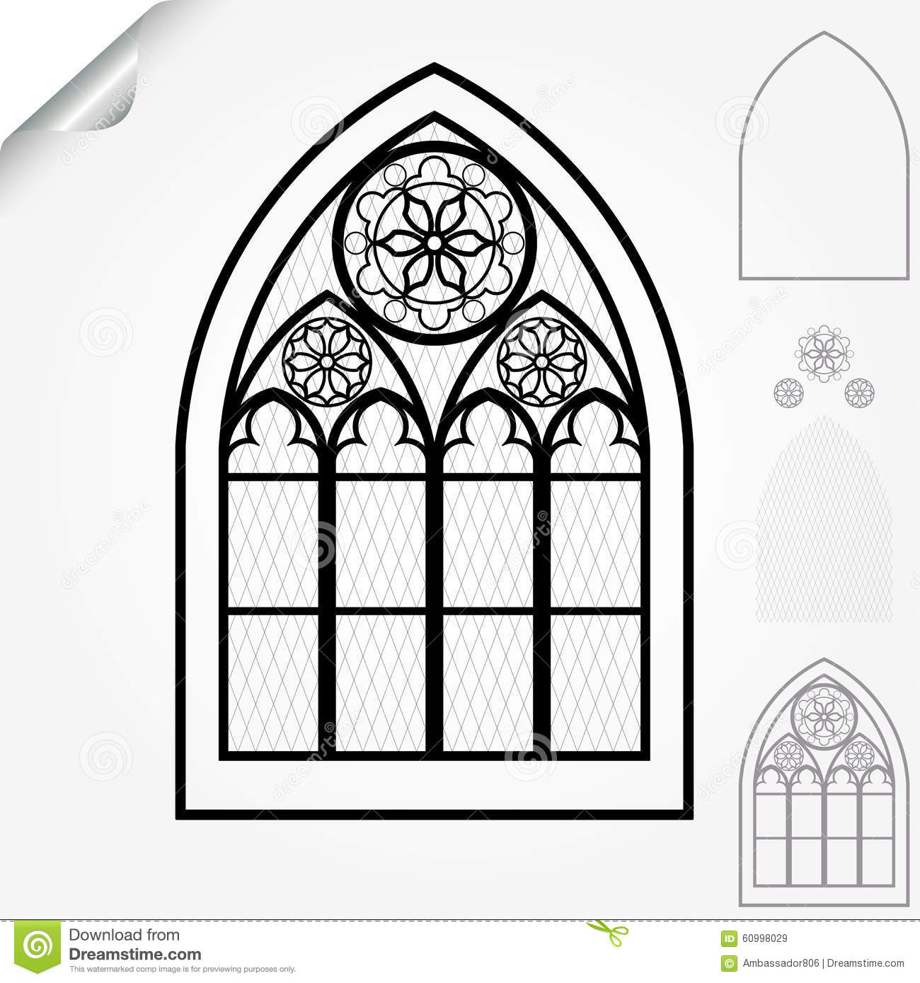 Gothic Window Stock Vector Illustration Of Ancient Antique