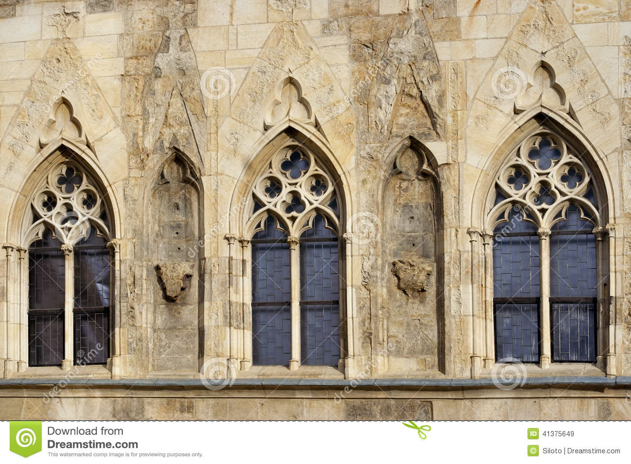 Gothic Windows Stock Image Of 1363 Rest Czech