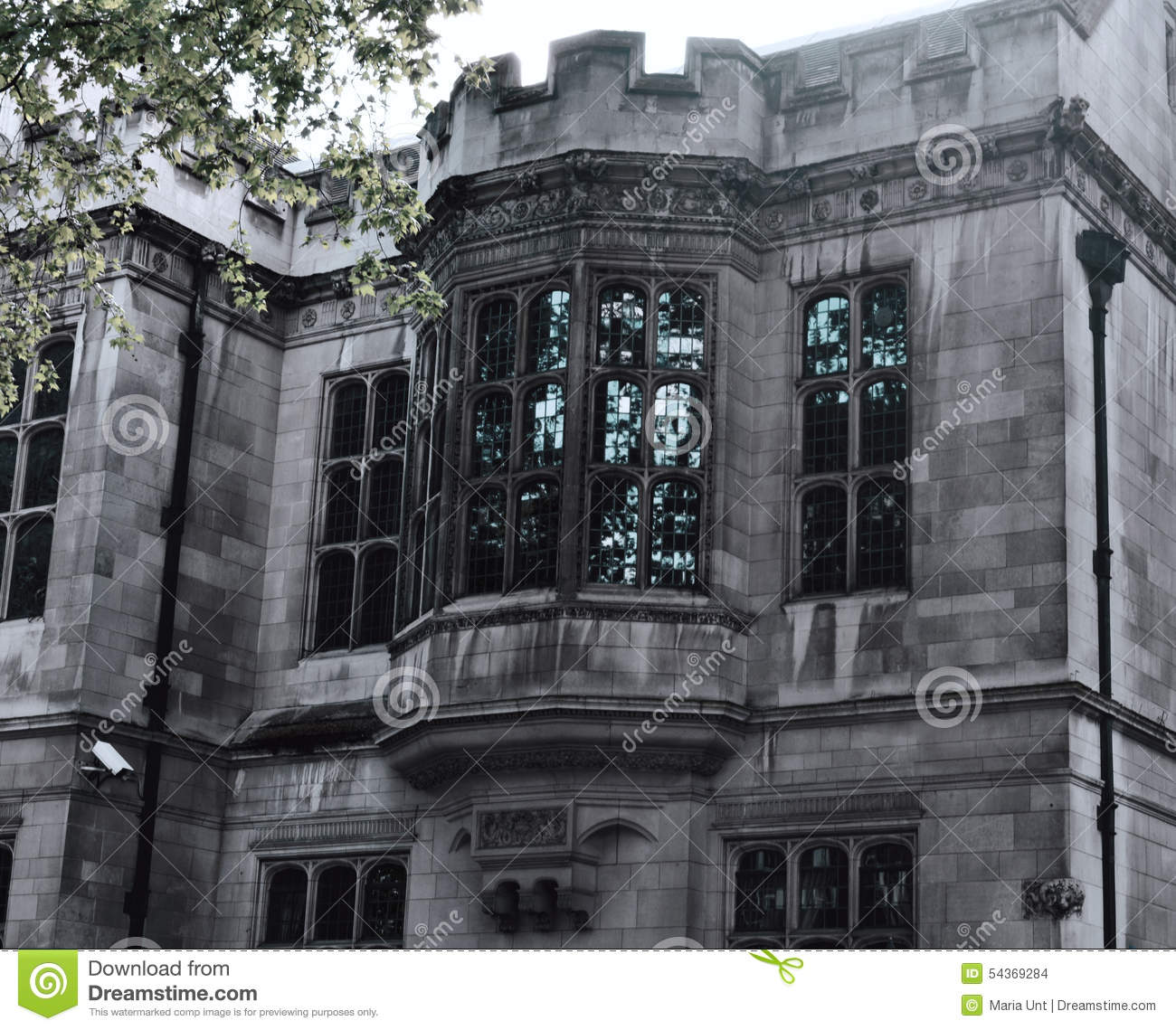 Gothic Windows Of The Old Grey Mansion The Bulldog
