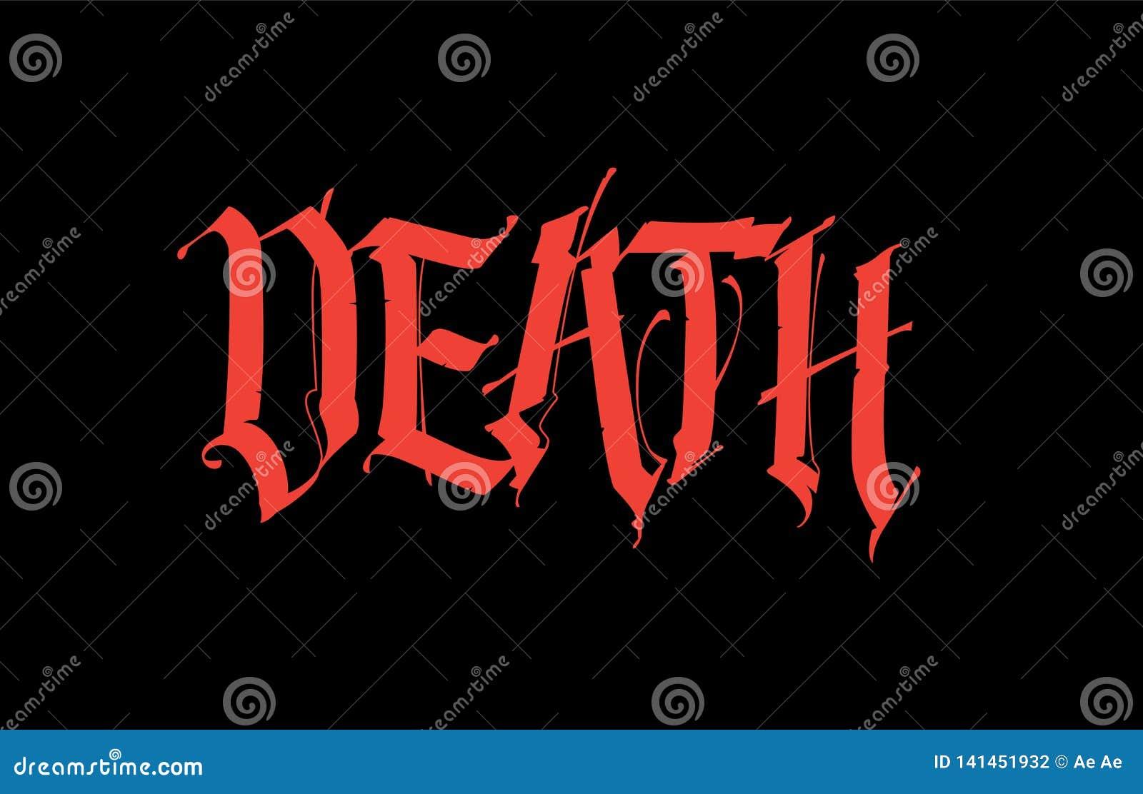 Gothique La Mort D Inscription Vecteur Police Pour Le