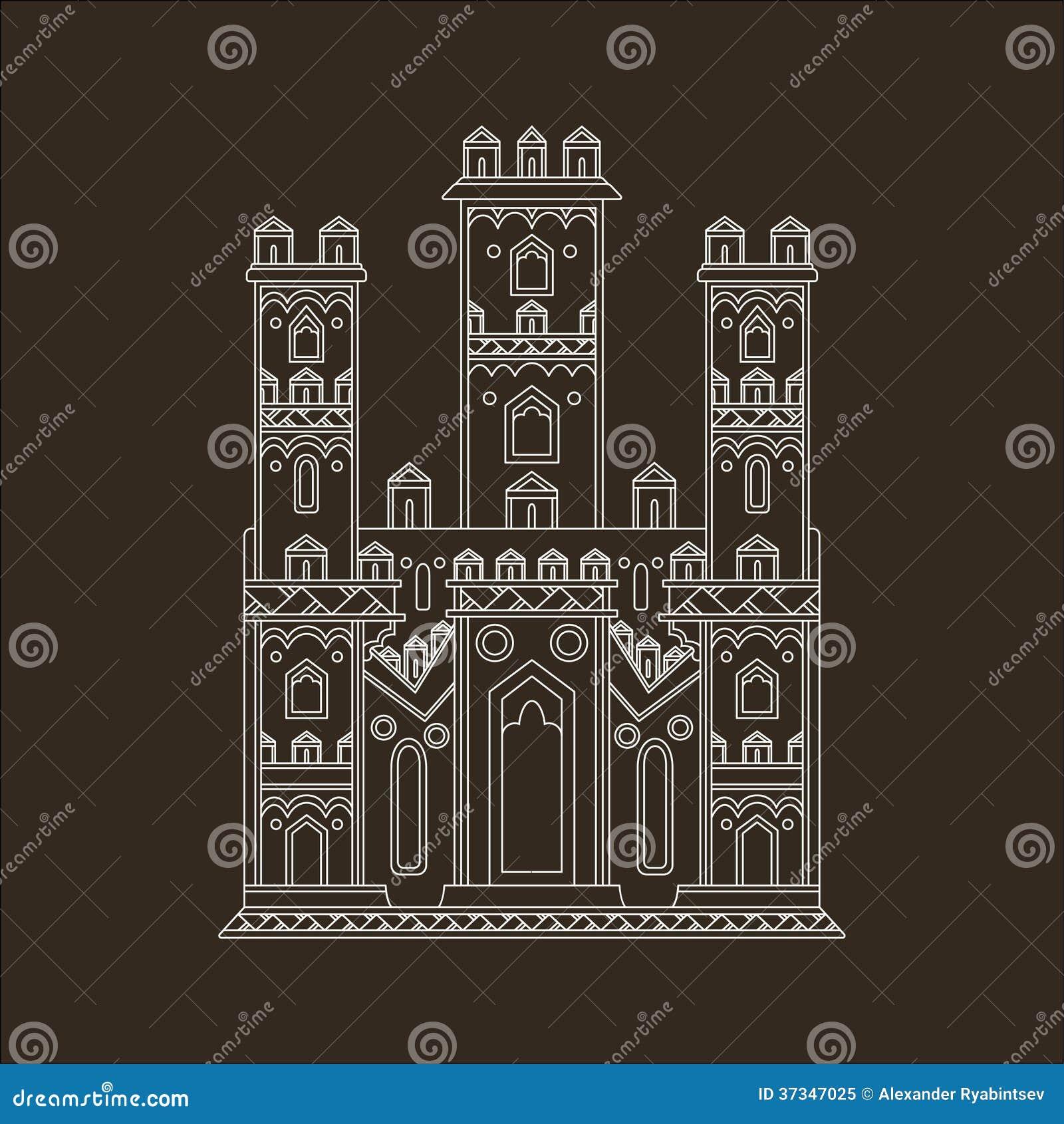 Gotisk slottillustration