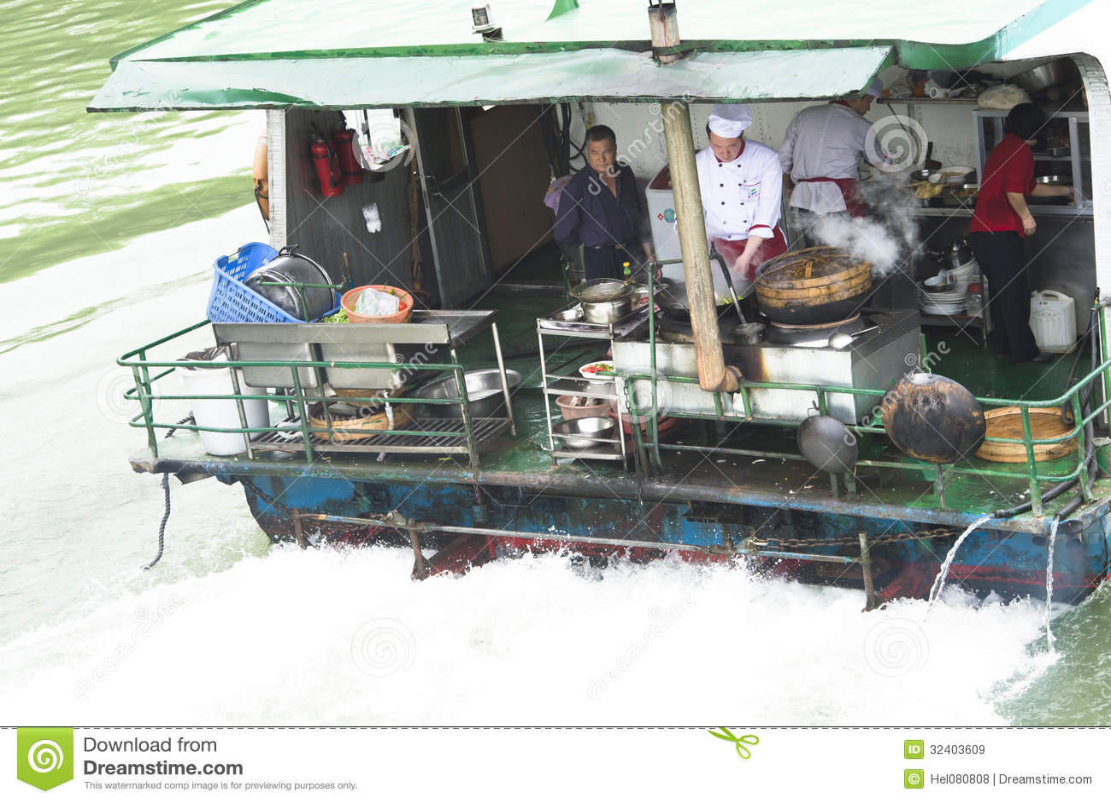 Gotować na statku w Chiny