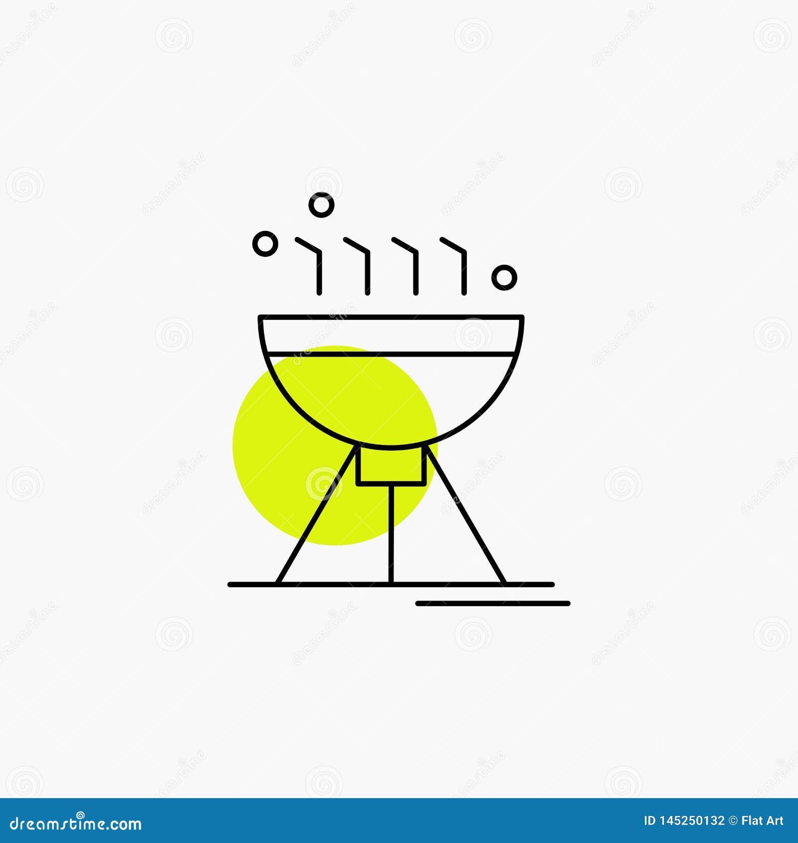 Gotowa? bbq, camping, jedzenie, grill Kreskowa ikona
