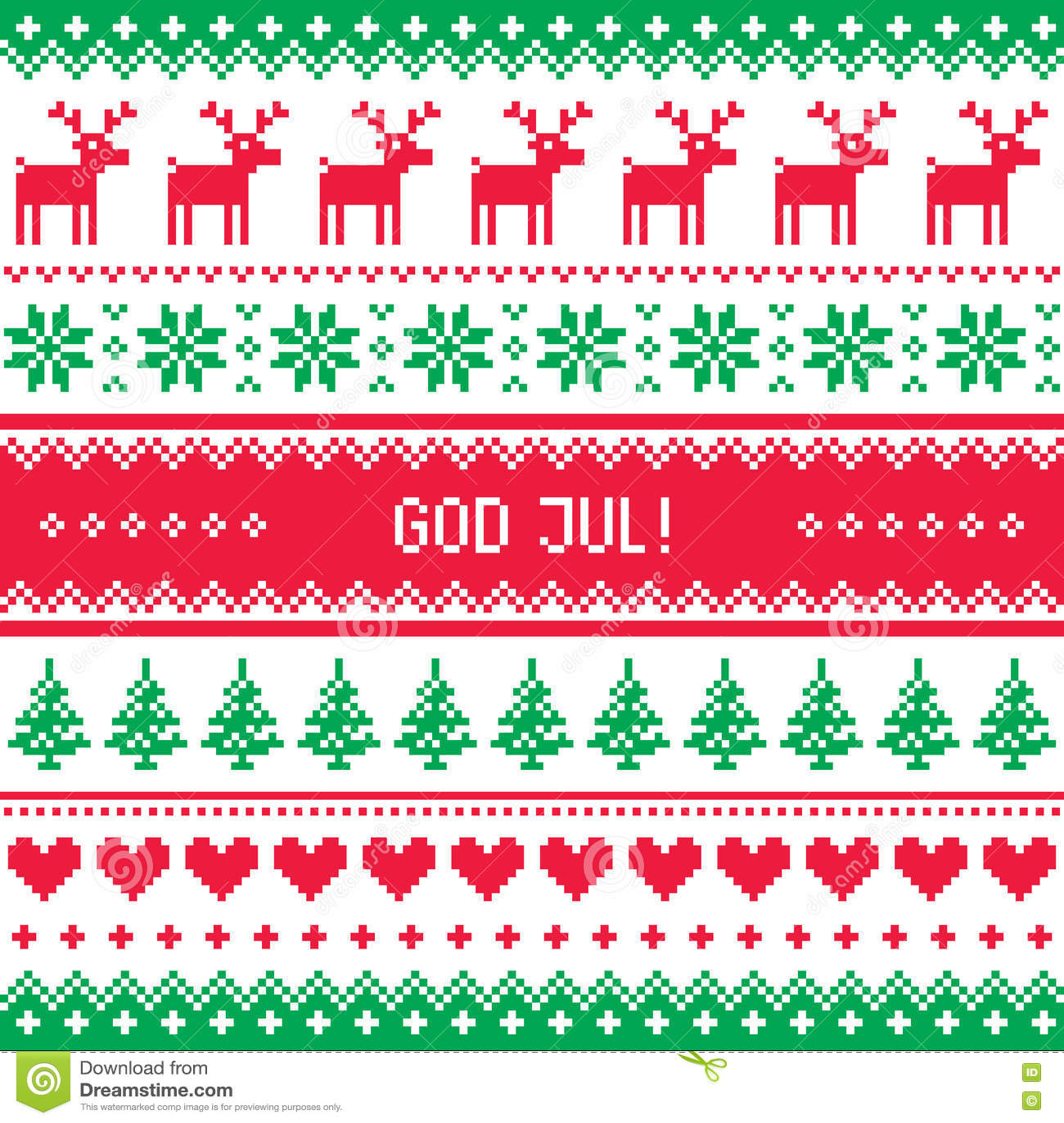 Frohe Weihnachten Schwedisch.Gott Jul Muster Frohe Weihnachten Auf Schwedisch Danisch