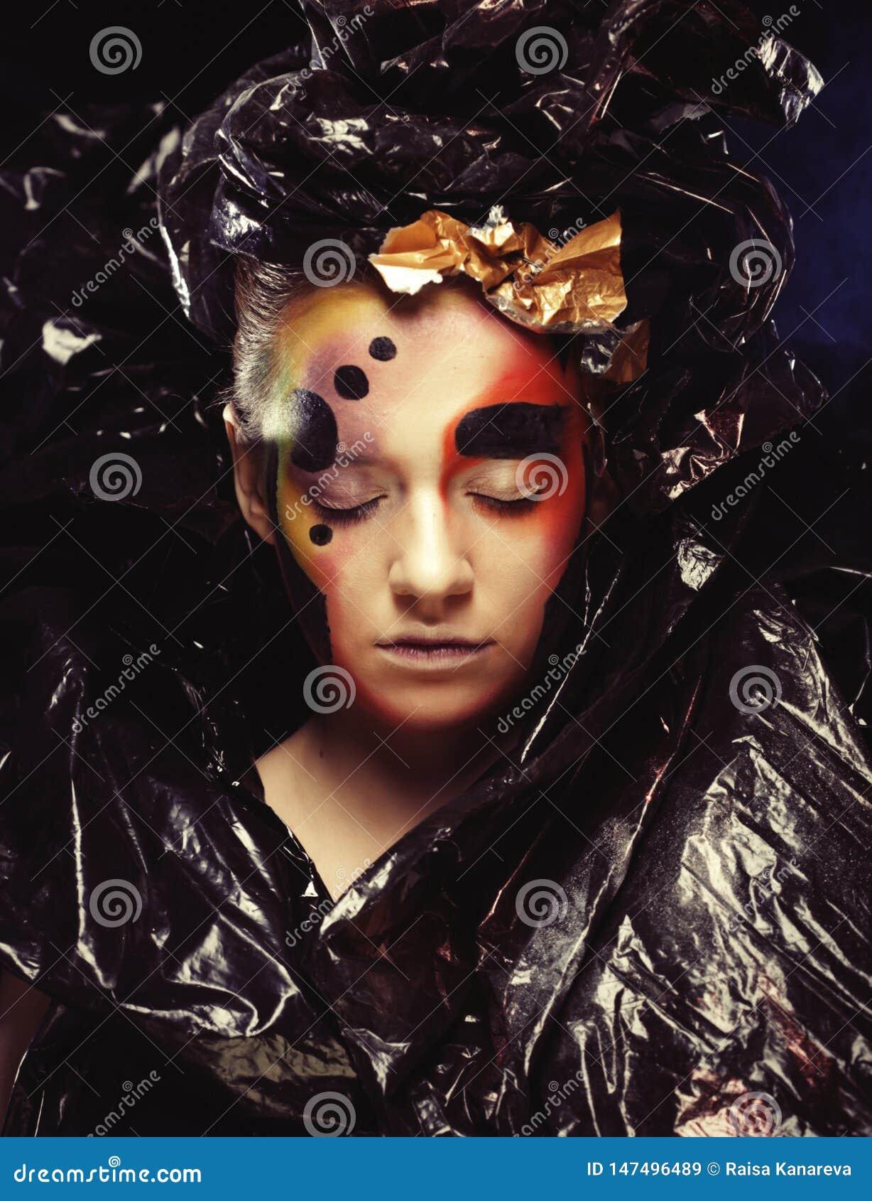 Gotyka ciemny Pi?kny przyj?cie princess z bliska Halloween przyj?cia poj?cie