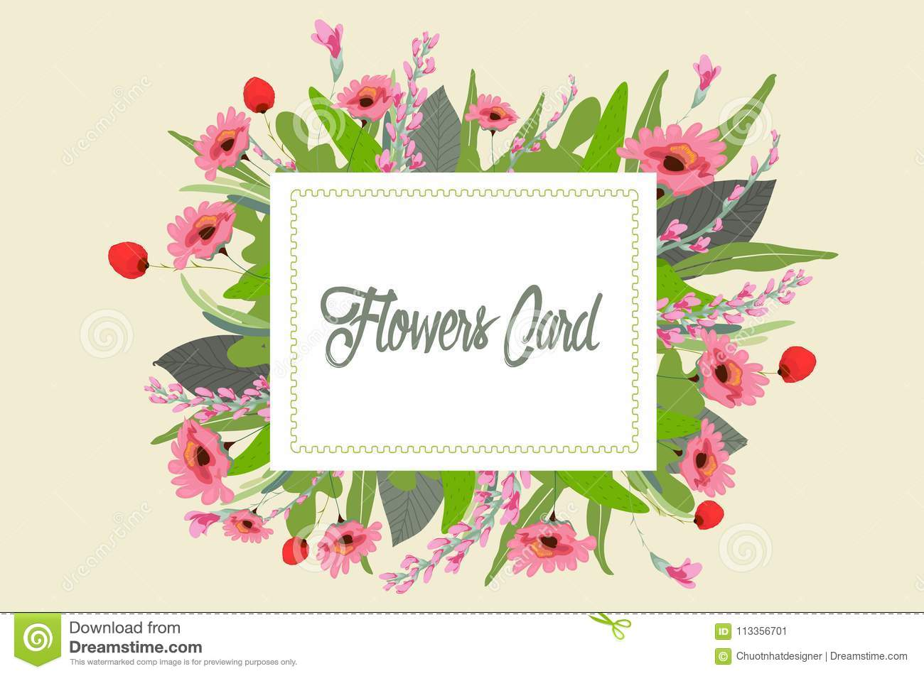 Gouache Flowers Clipart Pretty Flowers Wedding Stock