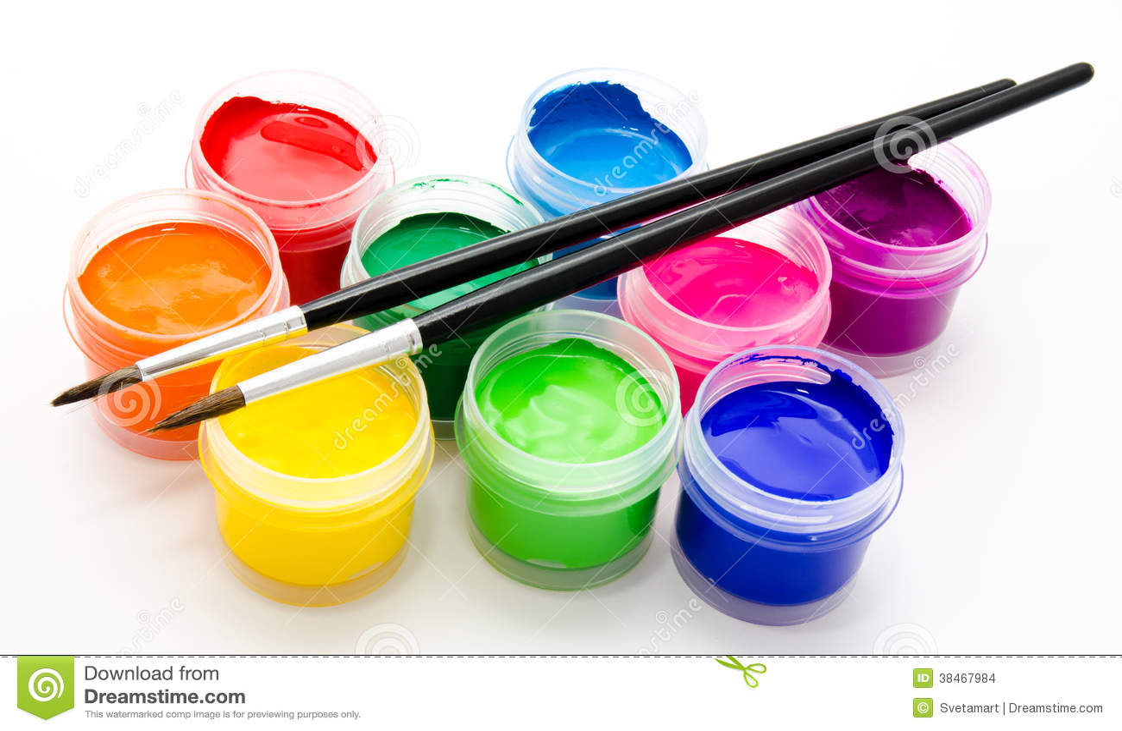 знакомство с кисточкой и красками