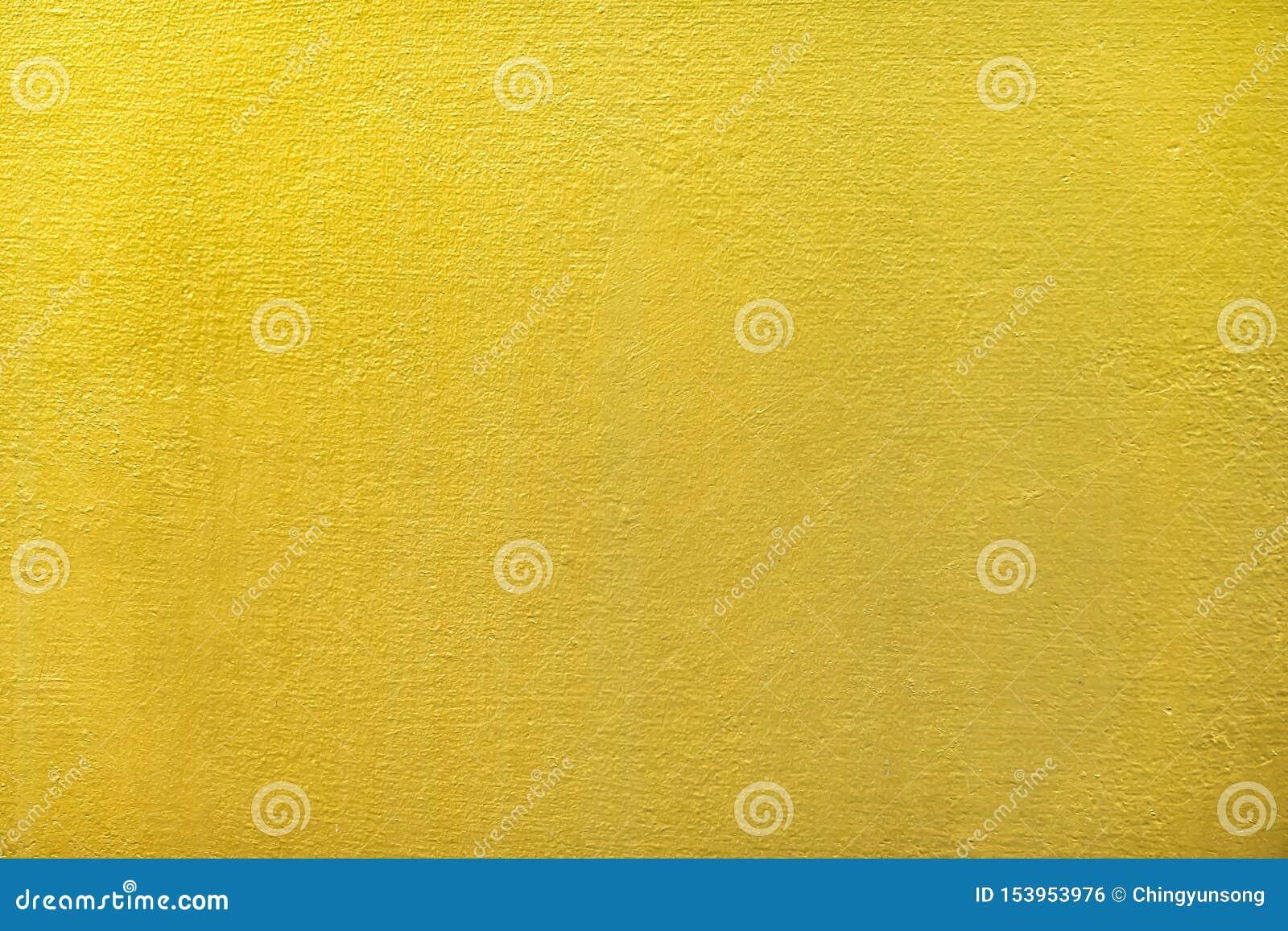 Goud of foliemuurverf voor de abstracte achtergrond en de textuur