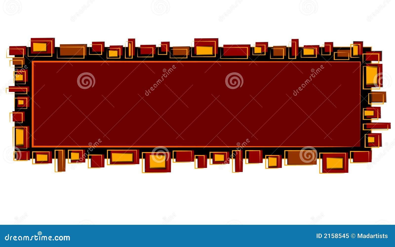 Goud van het Embleem van de Web-pagina het Rode Zwarte