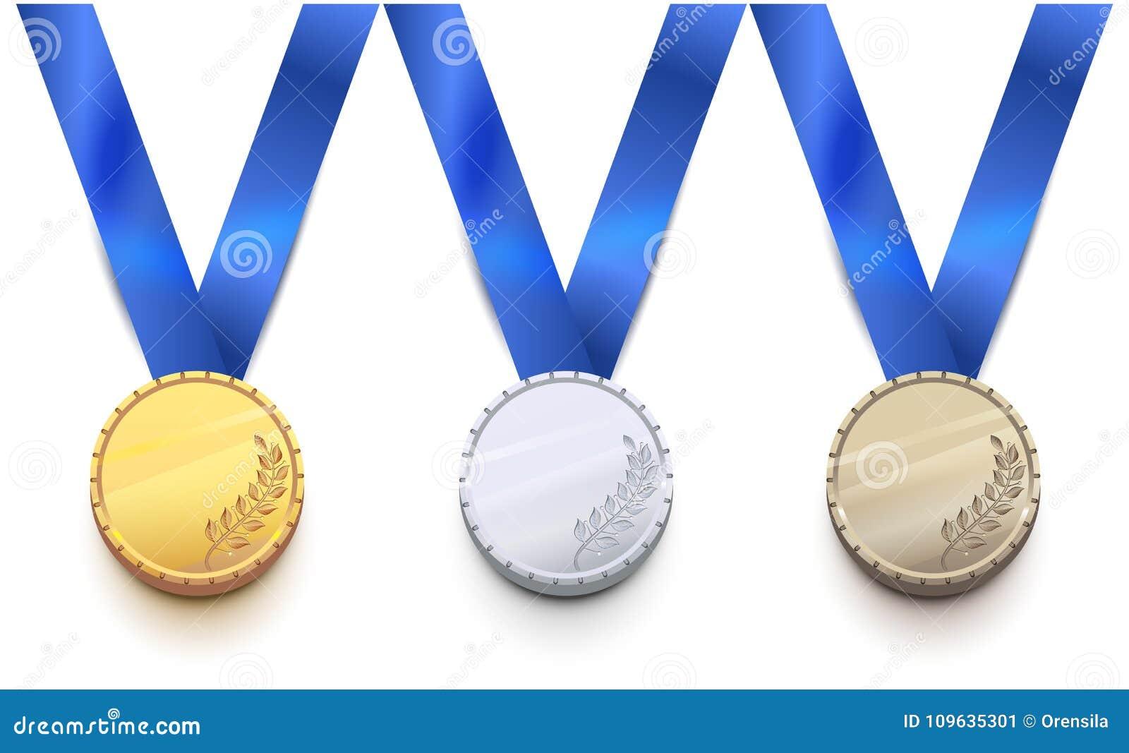 Goud, zilver en bronsmedaille voor het spel van de de wintersport