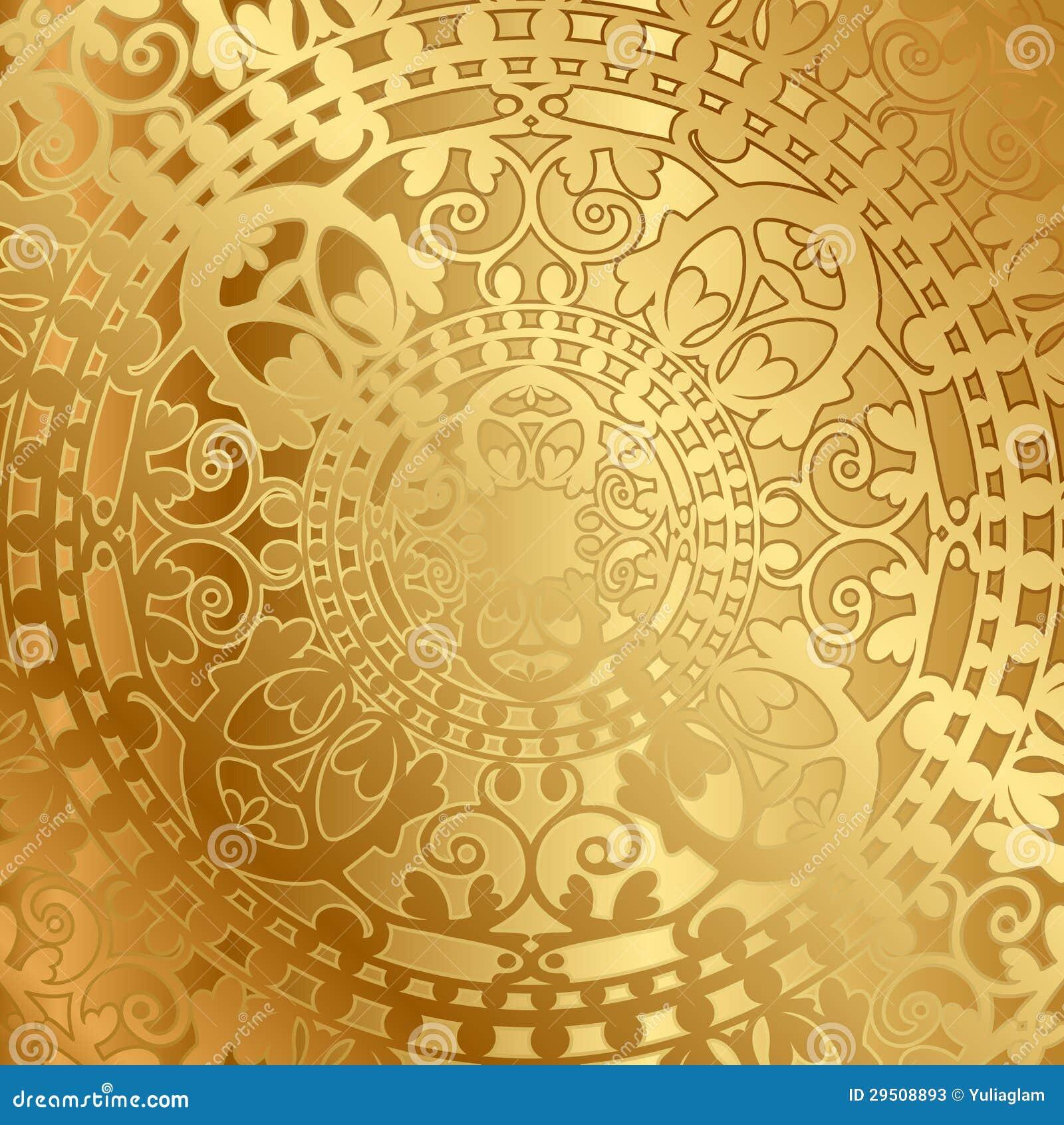 Gouden achtergrond met oosterse decoratie