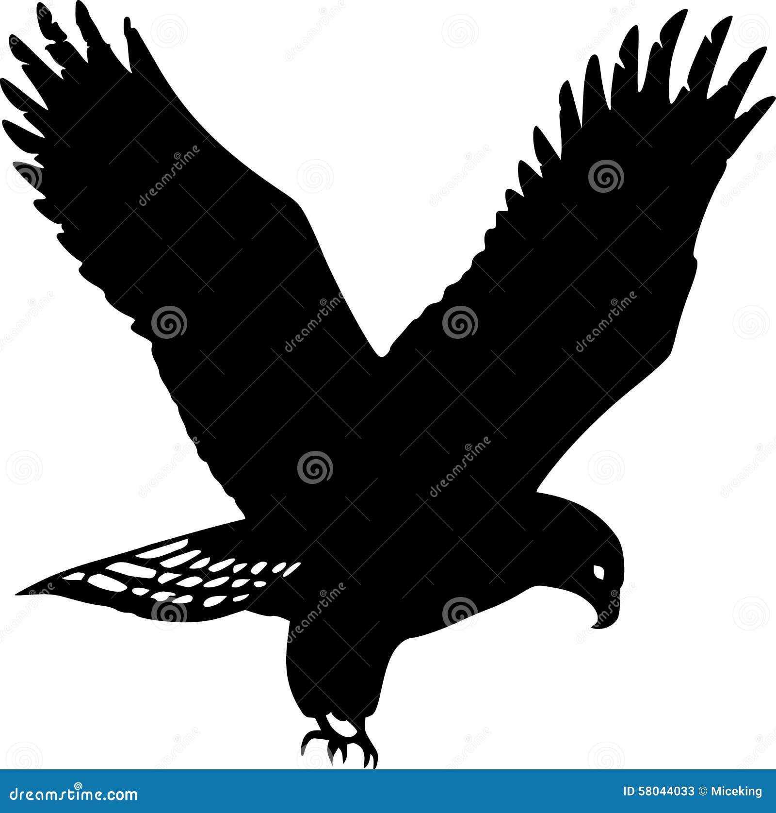 Gouden adelaarssilhouet