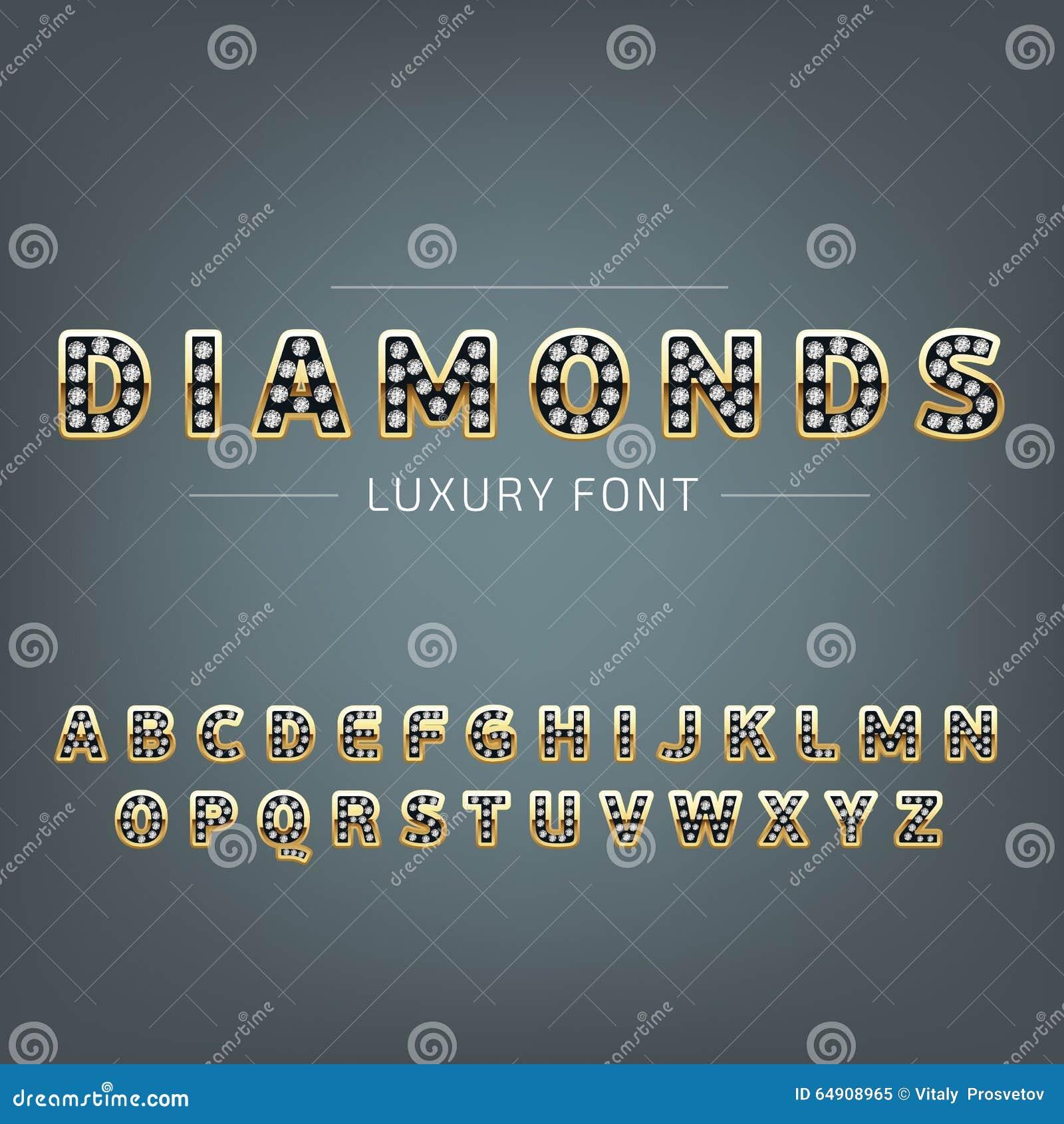 Gouden alfabet met diamanten