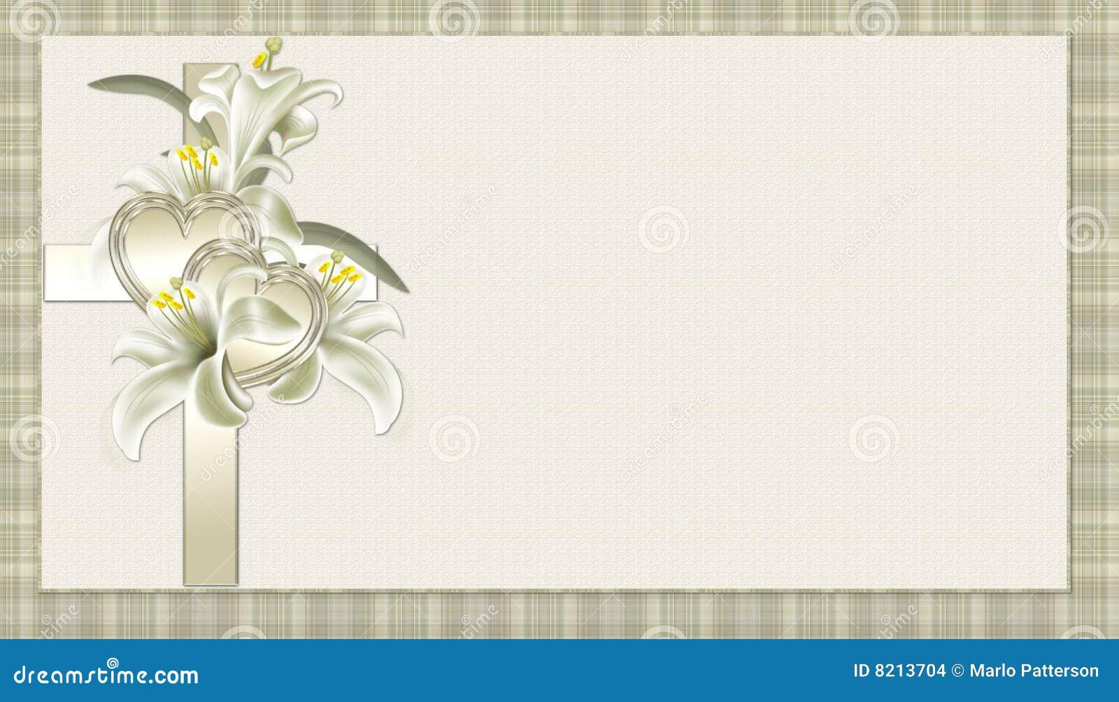 Gouden Christelijk Kruis Met De Achtergrond Van Bloemen Stock Afbeeldingen Afbeelding