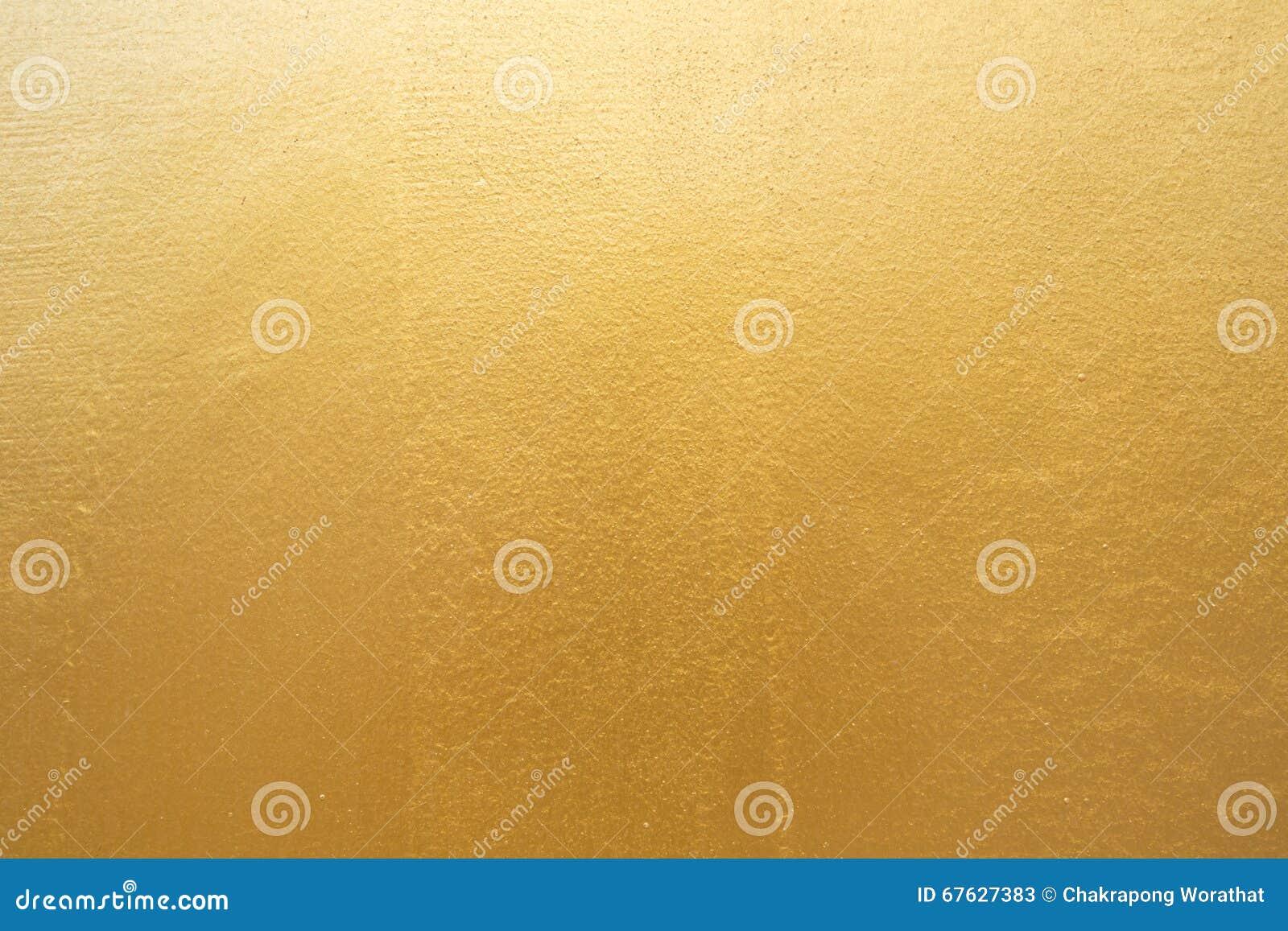 Gouden concrete muur op achtergrondtextuur
