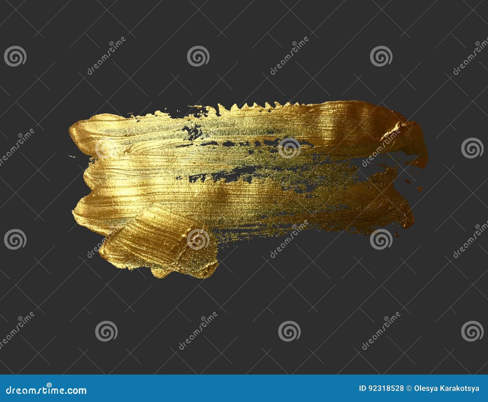 Gouden de borstelslag van de handtekening