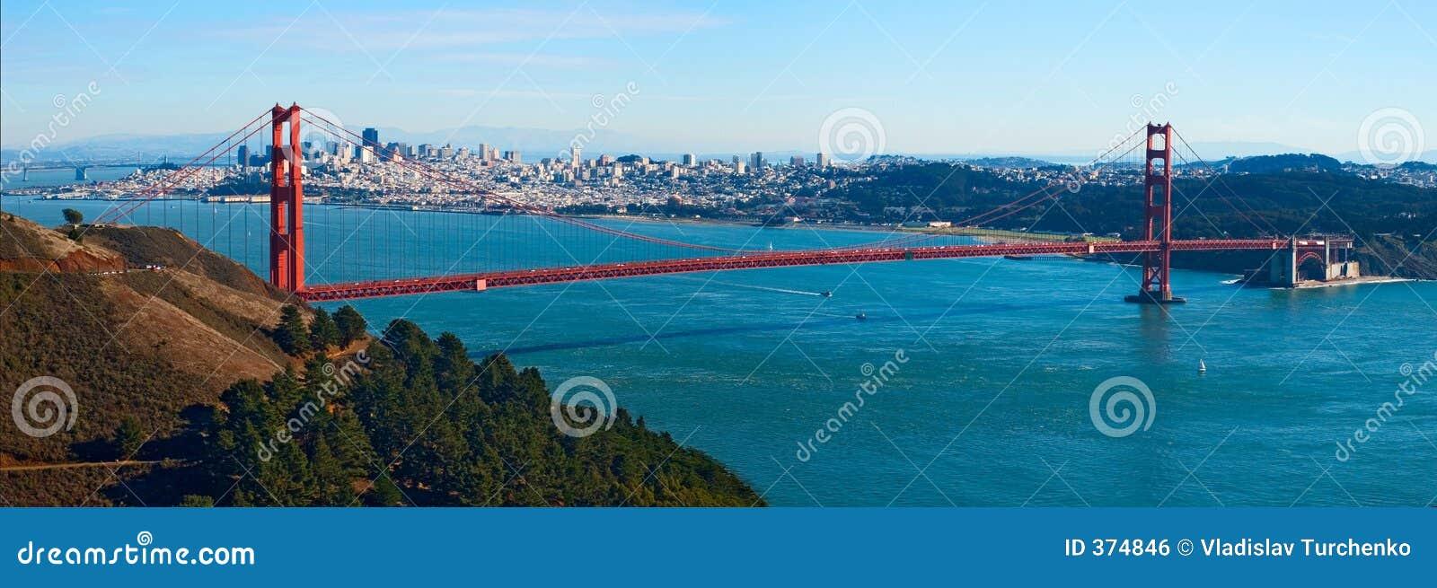 Gouden de brugpanorama van de Poort