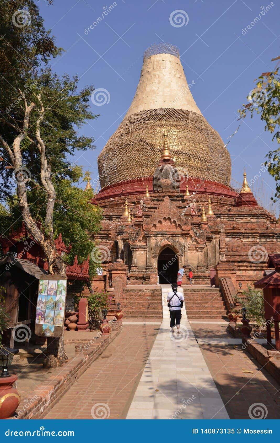 Gouden de Pagodestupa van Birma Myanmar