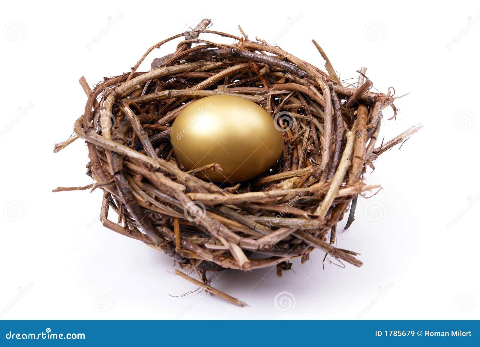 Gouden ei in nest