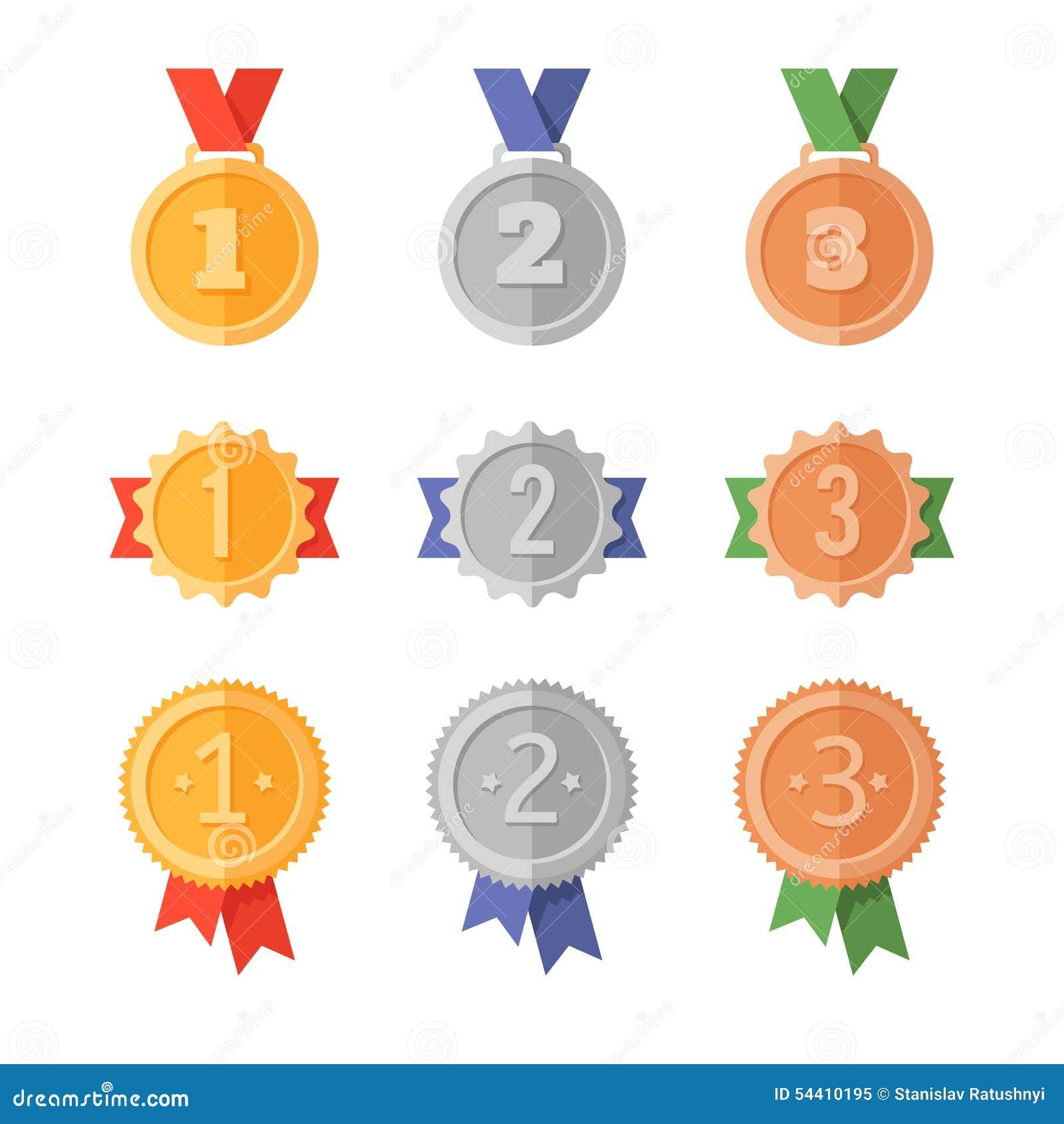 Gouden en zilveren medailles
