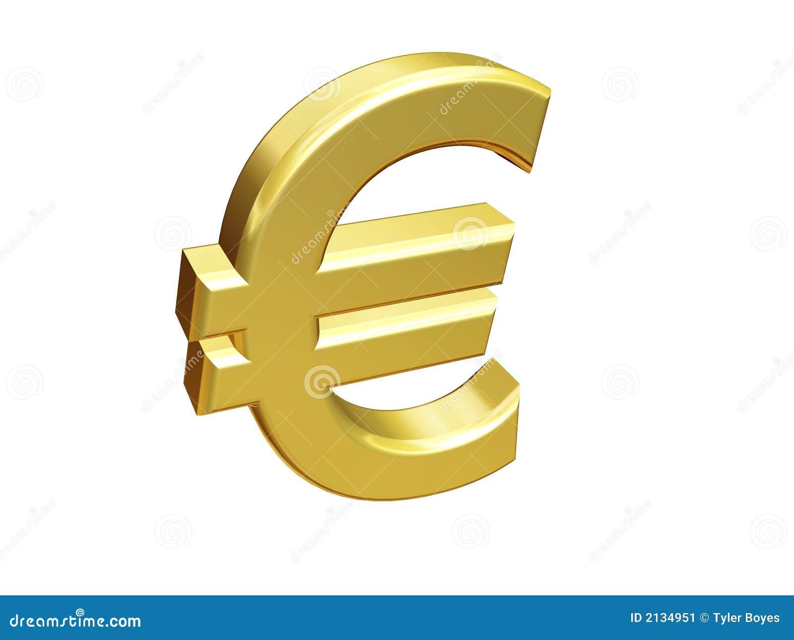 Gouden Euro Teken Stock Afbeelding - Afbeelding: 2134951