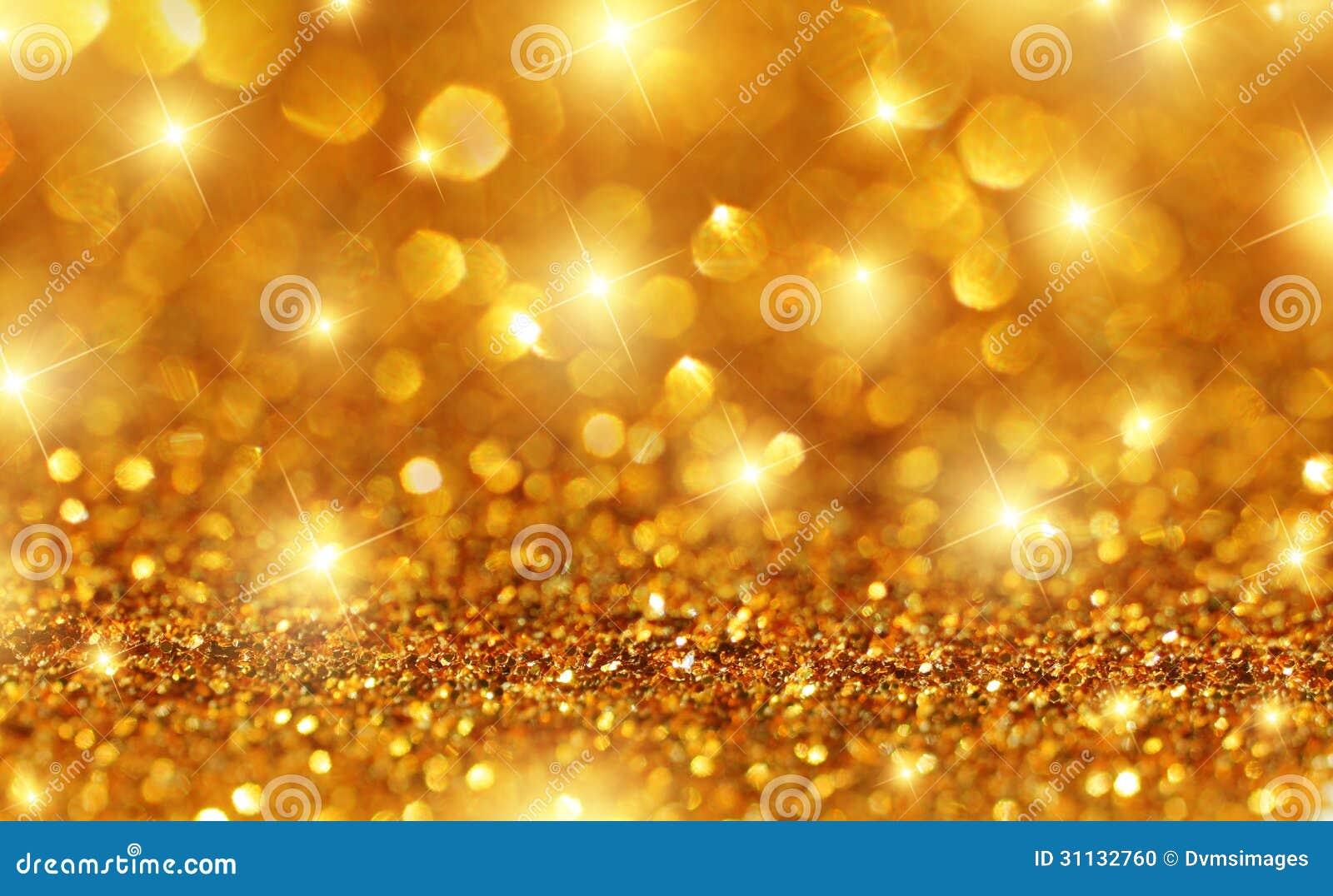 Gouden Fonkelingsachtergrond