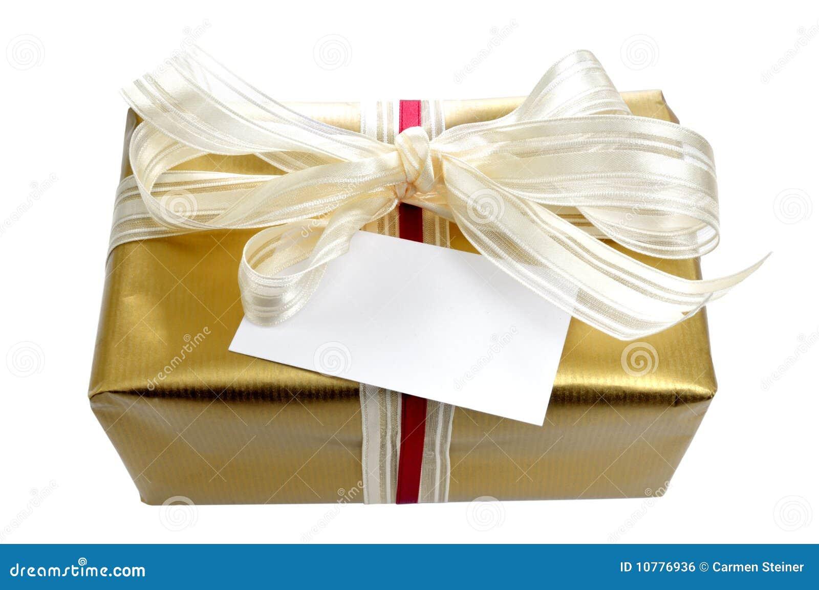Gouden gift met kaart