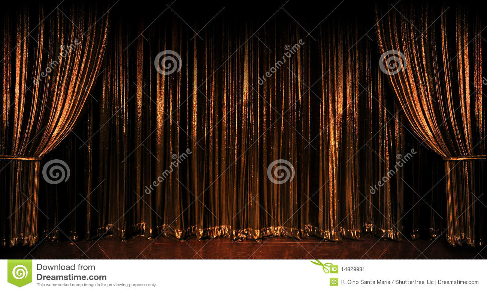 gouden gordijnen