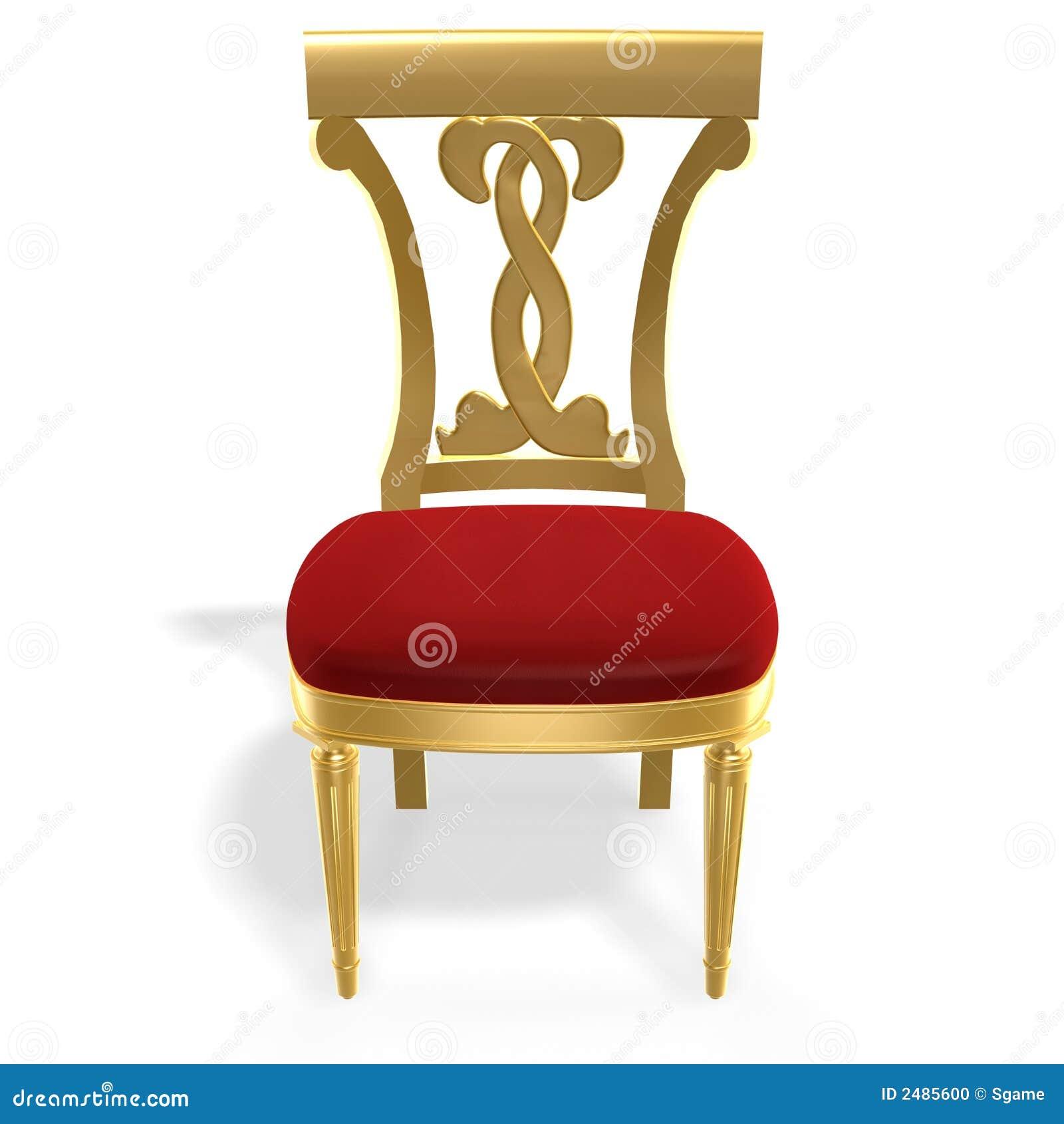 gouden koninklijke stoel stock foto beeld 2485600