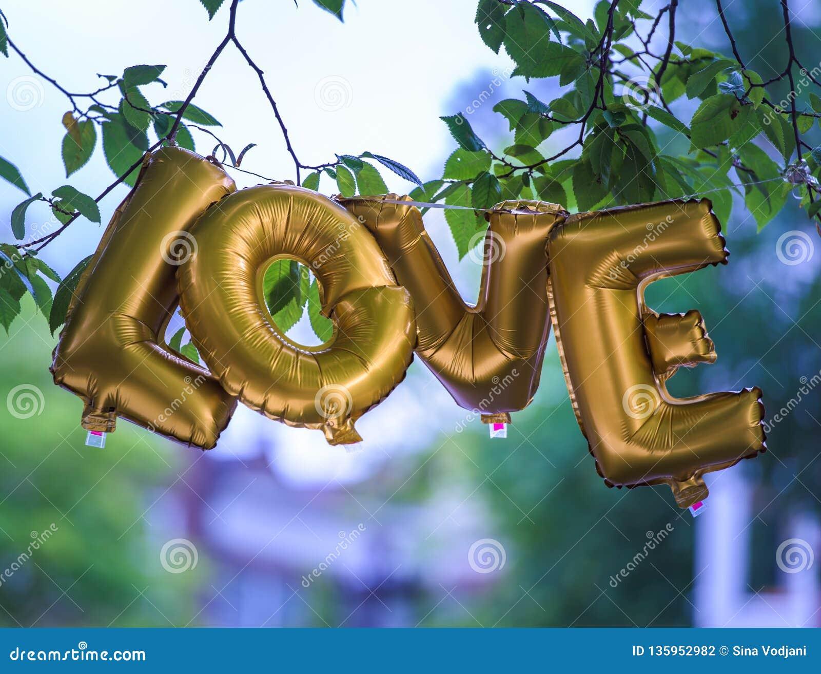Gouden Liefdeballon
