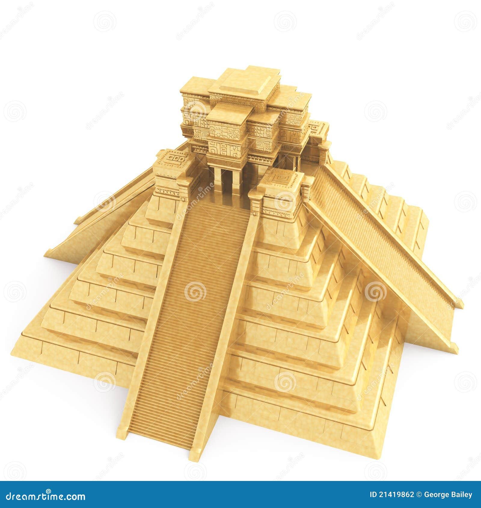 Gouden Mayan Tempel