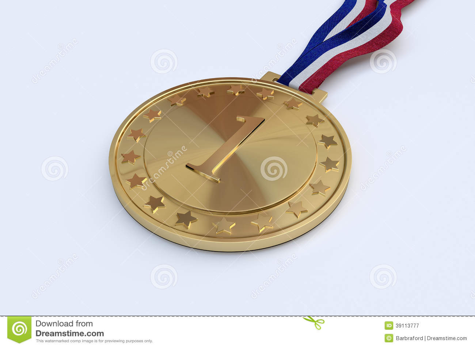 Gouden medaille met aantal