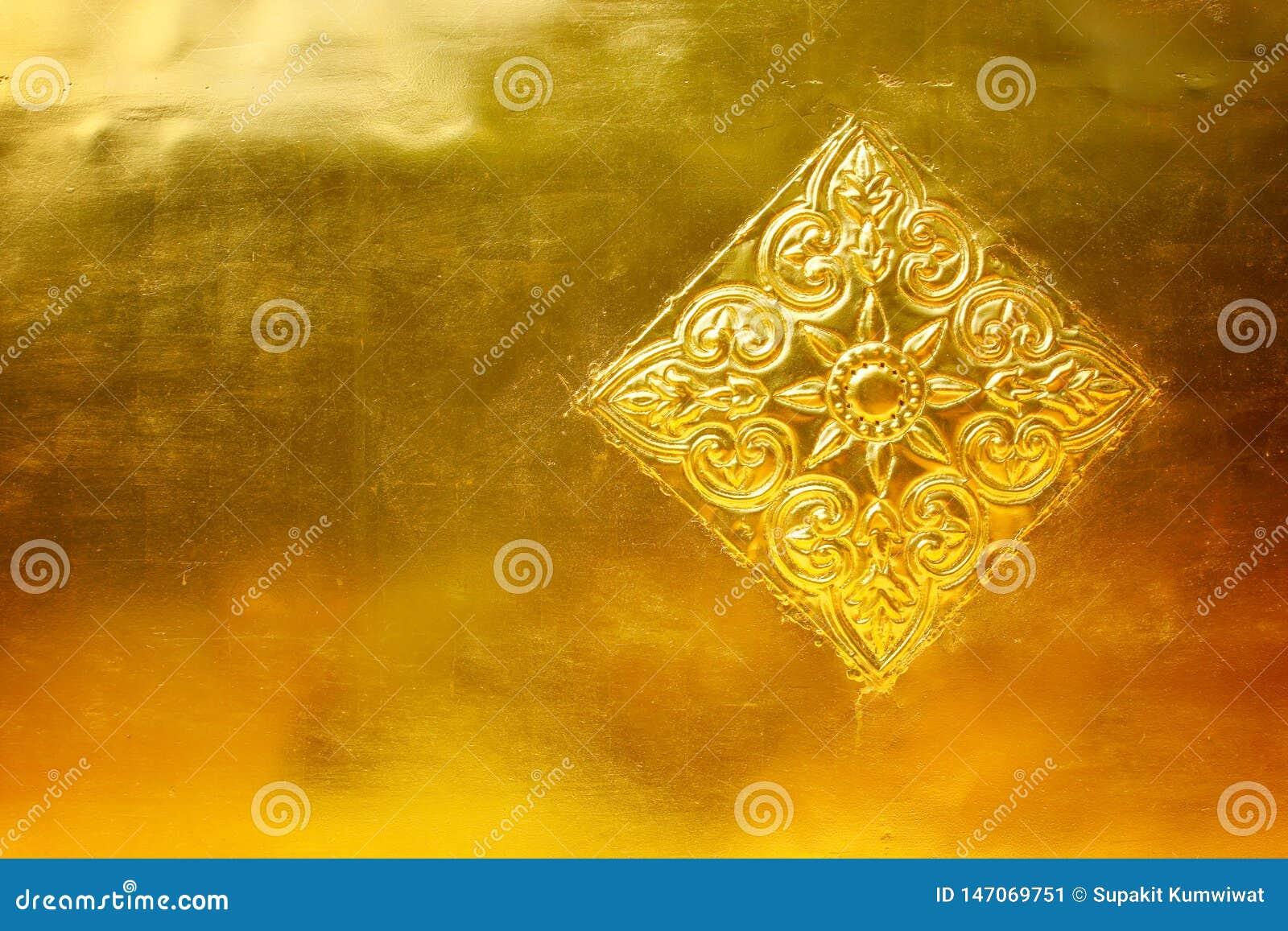 Gouden metaal met gevormd