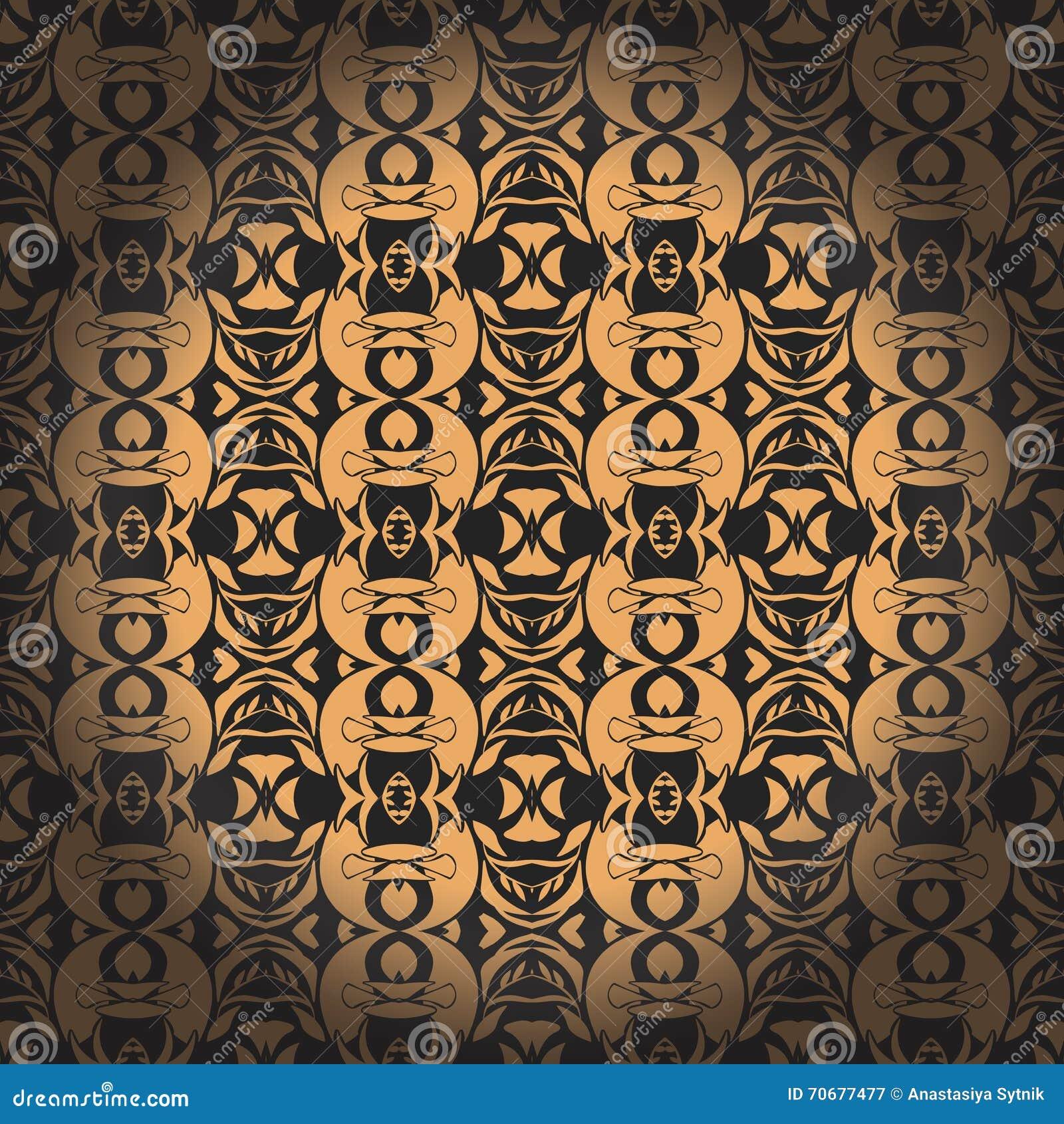 Gouden naadloos patroon Vector illustratie Editable vectordossier