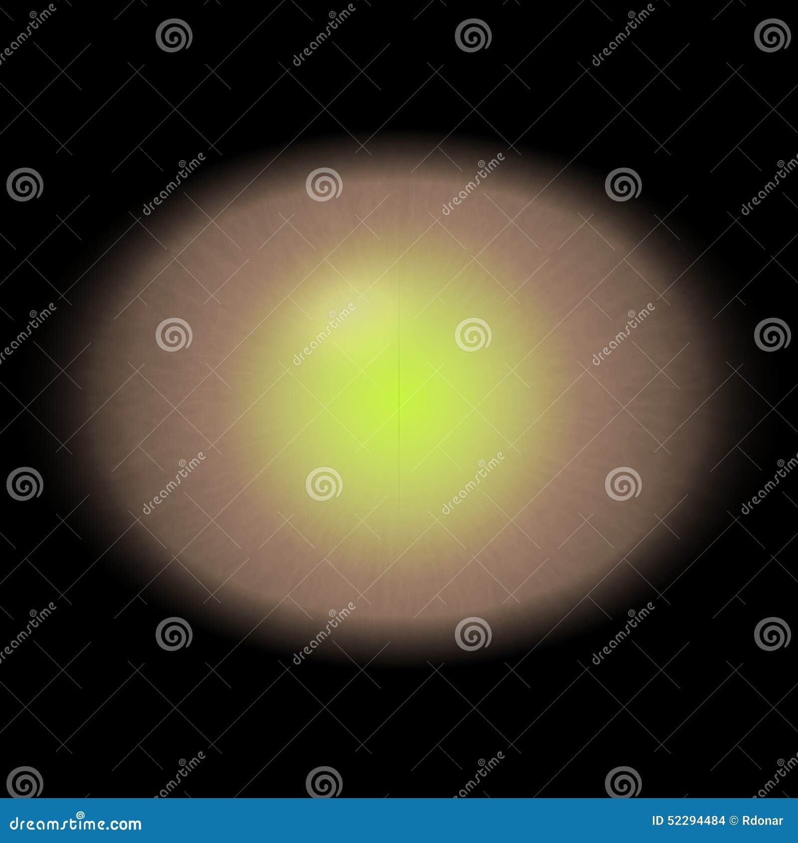Gouden oog met open leerling en heldere gele retina op achtergrond Donkere kleurrijke iris rond leerling, geïsoleerd oog