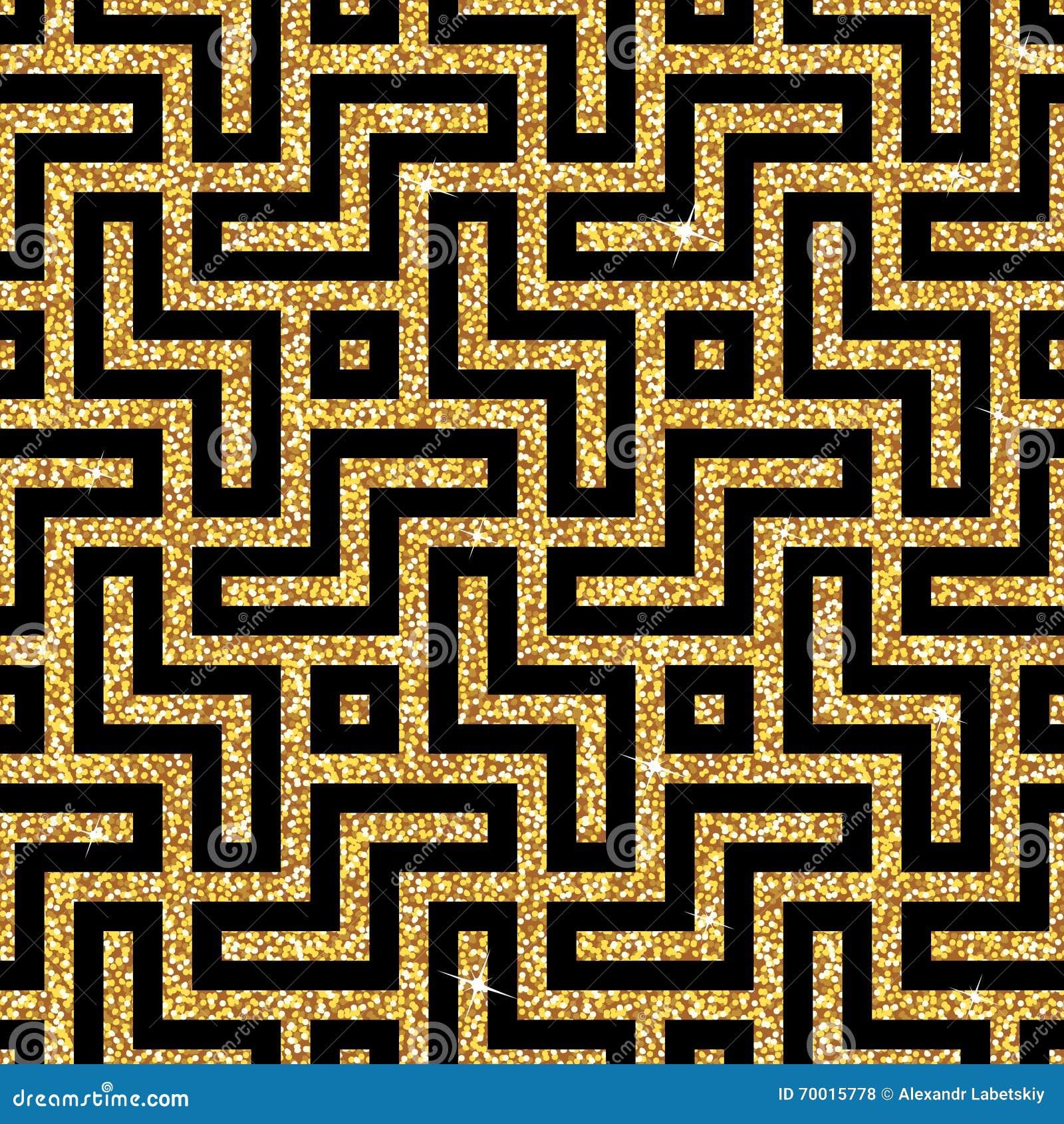 Gouden oosters hakenkruispatroon vector illustratie afbeelding 70015778 - Oosters stof ...