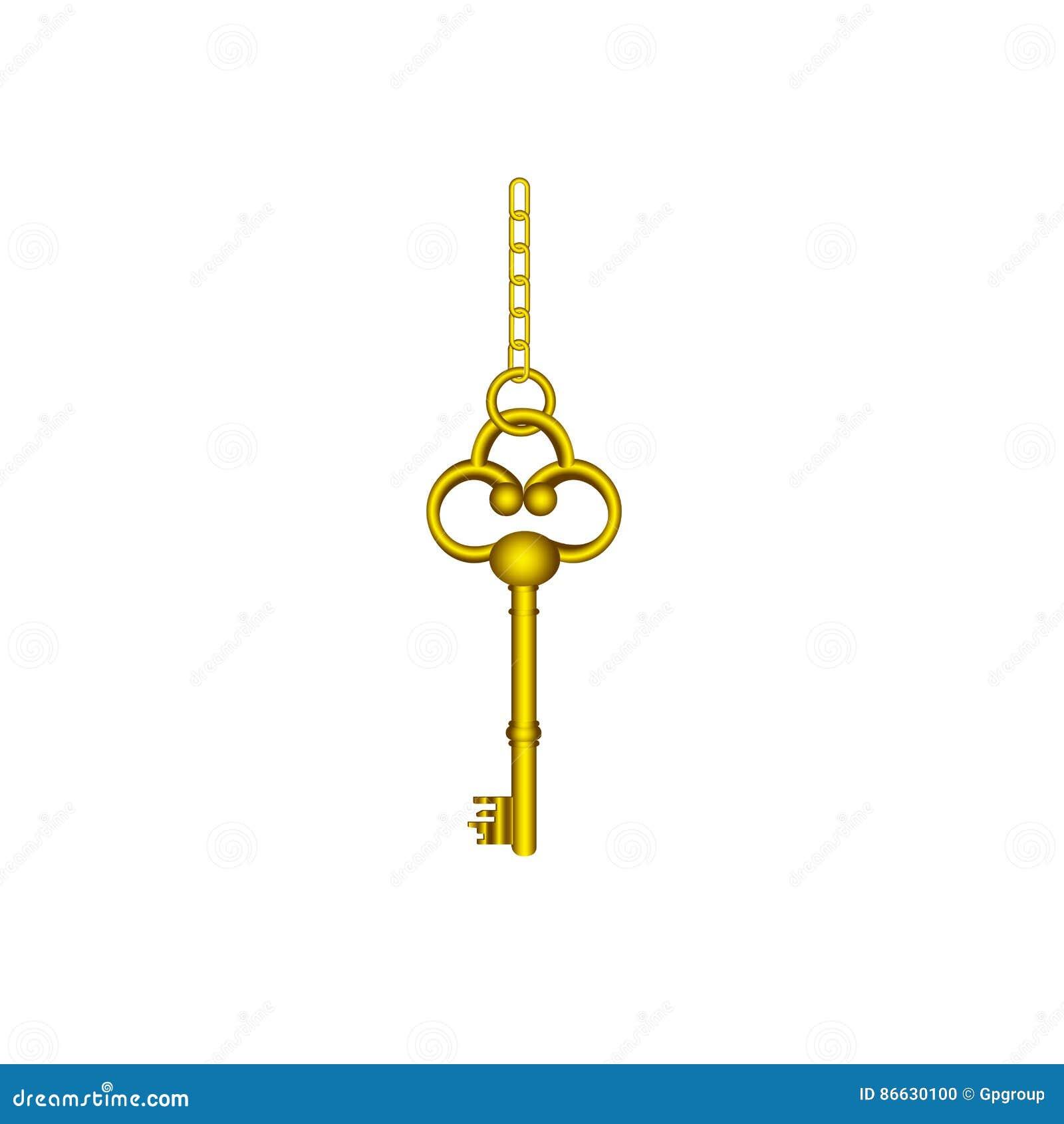 Gouden oud zeer belangrijk hangend pictogram