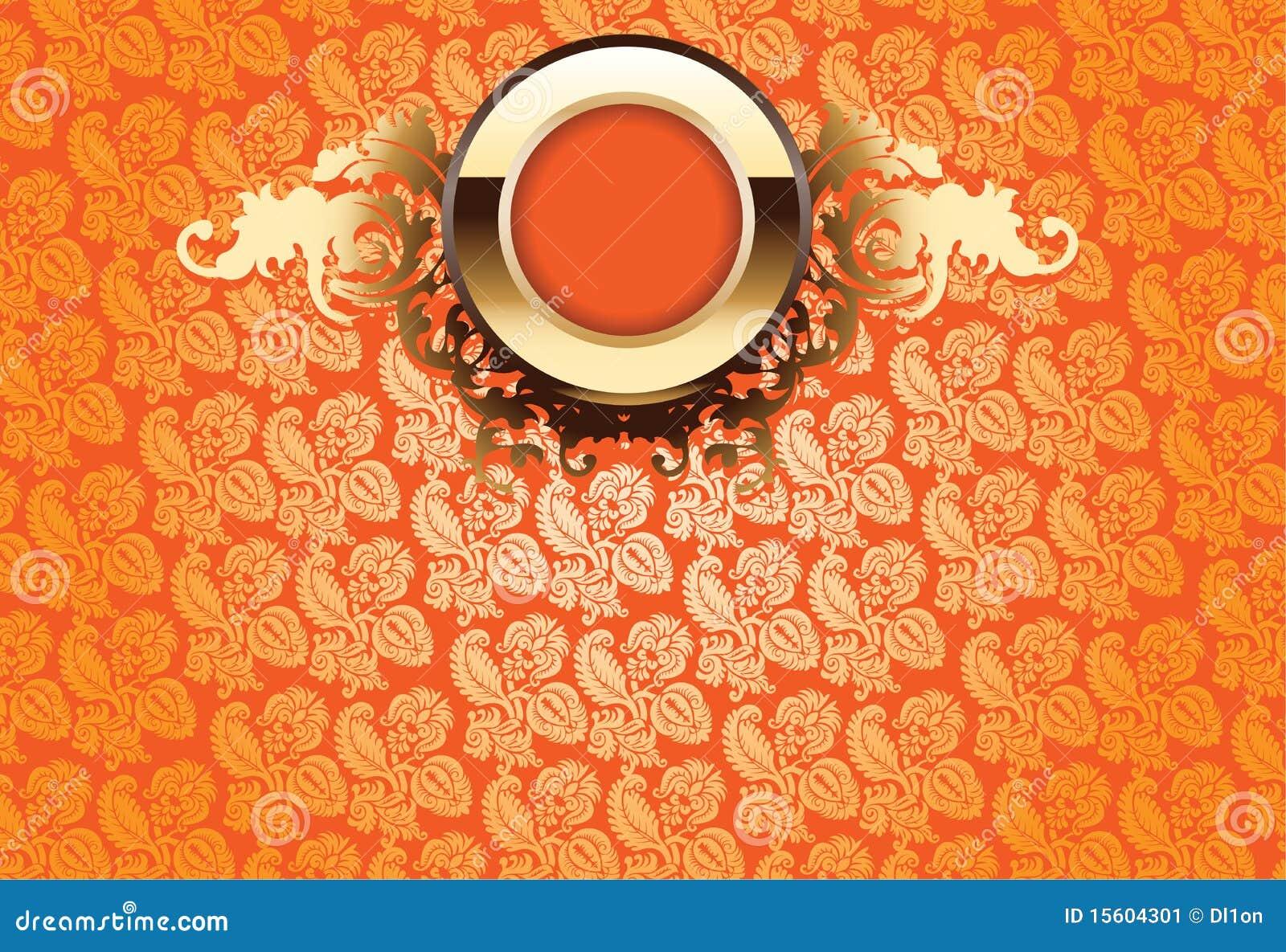 Gouden overladen van de gloed over oranje behang stock illustratie afbeelding 15604301 - Behang van de jaren ...