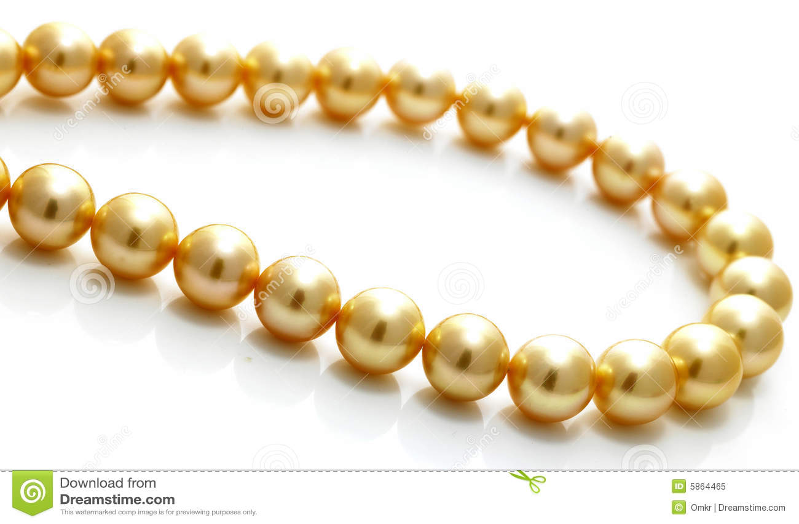 Gouden parelketting