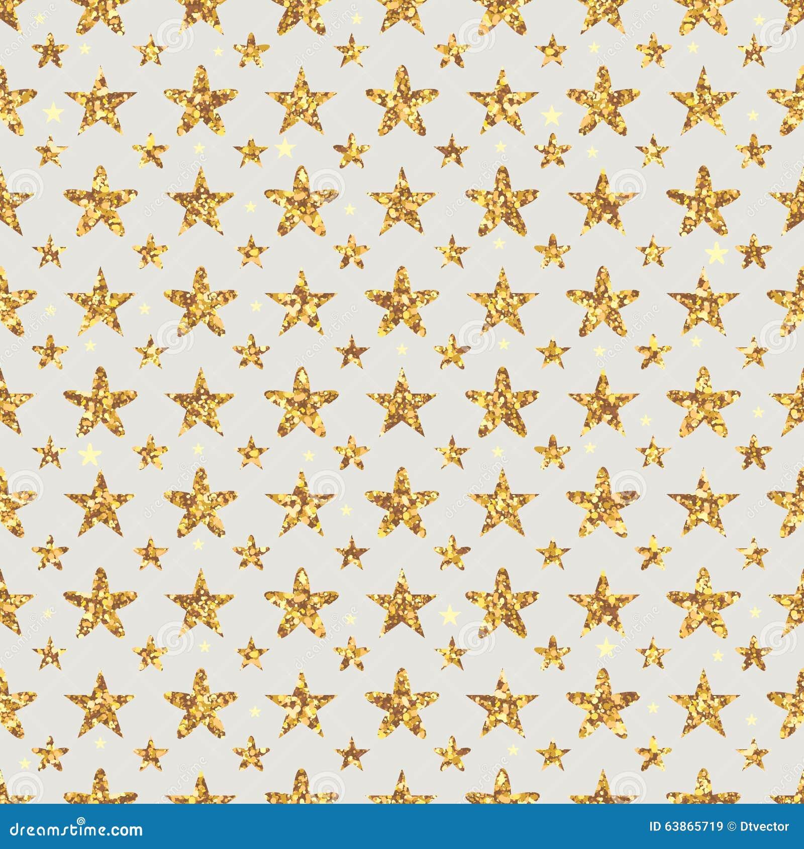 Gouden schitter de symmetrie naadloos patroon van de sterbloem
